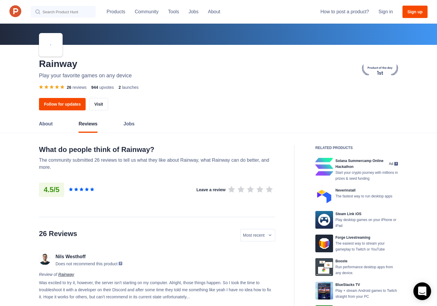 24 Rainway Reviews - Pros, Cons and Rating | Product Hunt