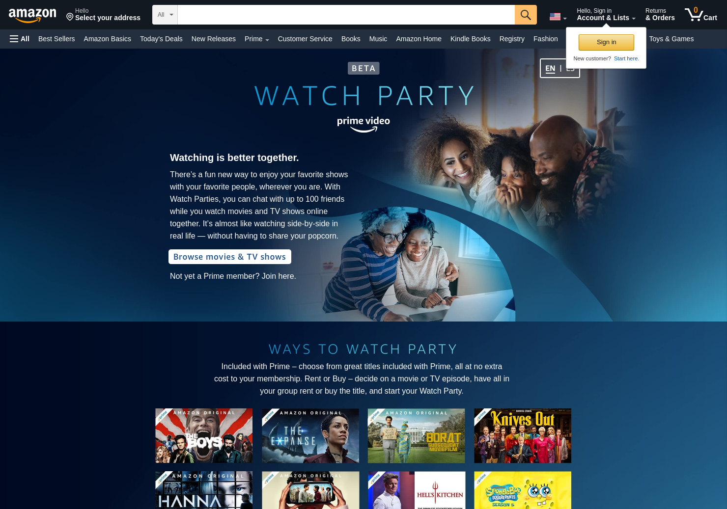 Prime Video Watch Party
