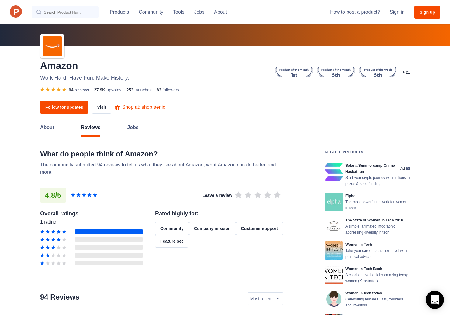 Amazon Giveaway Reviews - Pros, Cons and Rating   Product Hunt