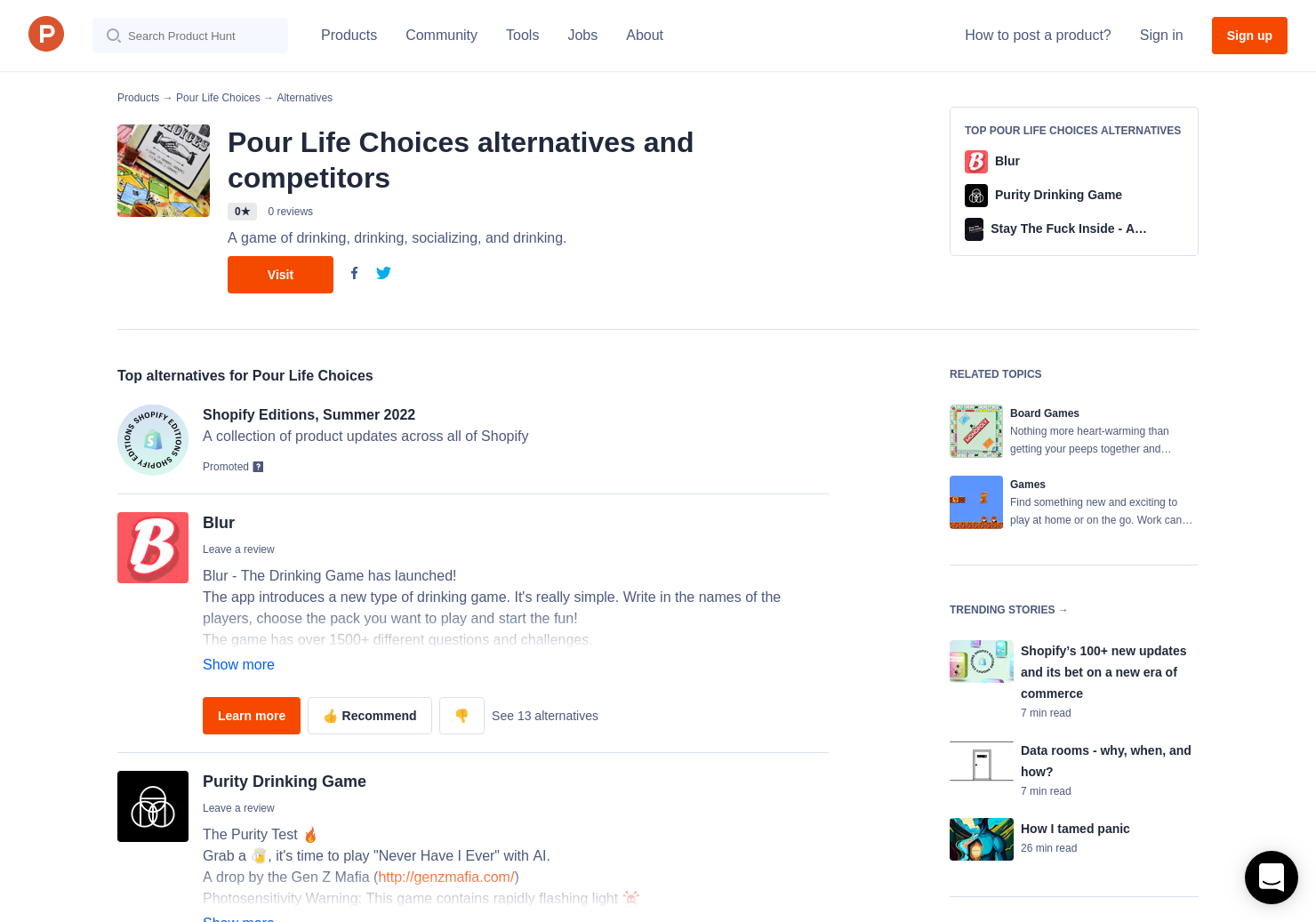 3 Alternatives to Pour Life Choices   Product Hunt