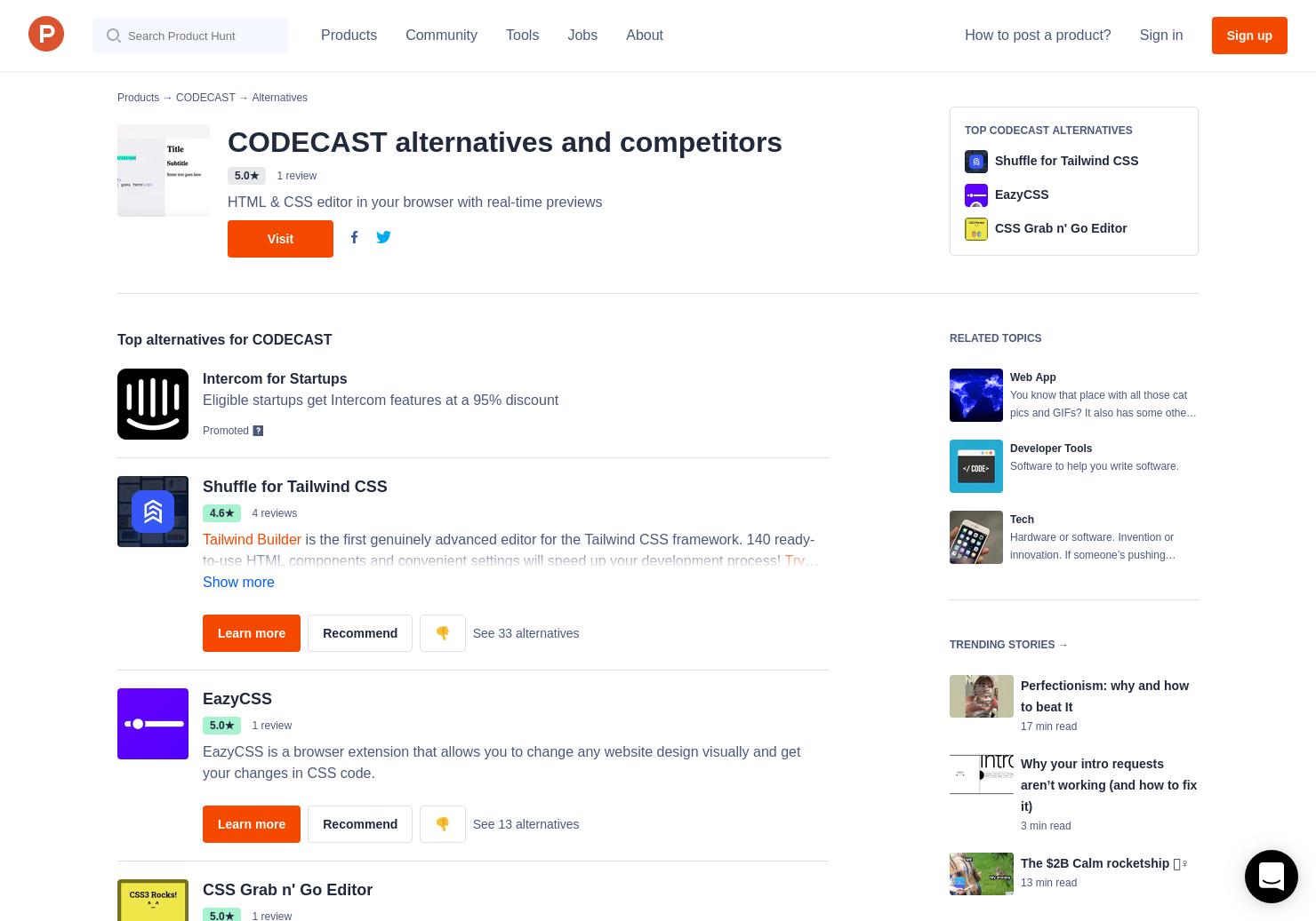 5 Alternatives to CODECAST | Product Hunt