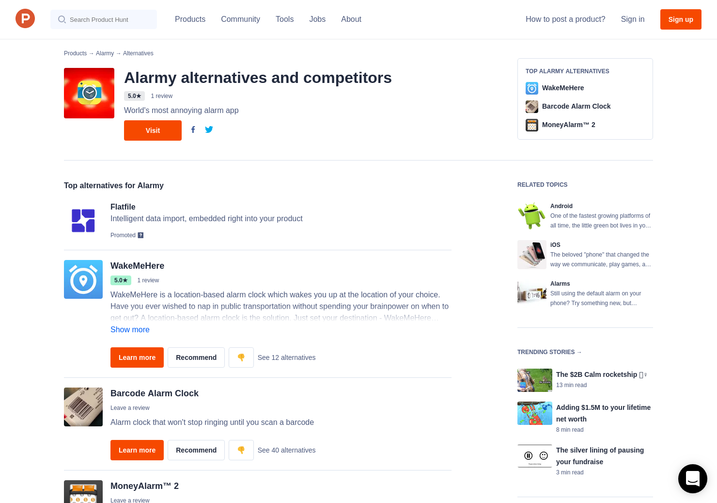 16 Alternatives to Alarmy for Android, iPhone | Product Hunt