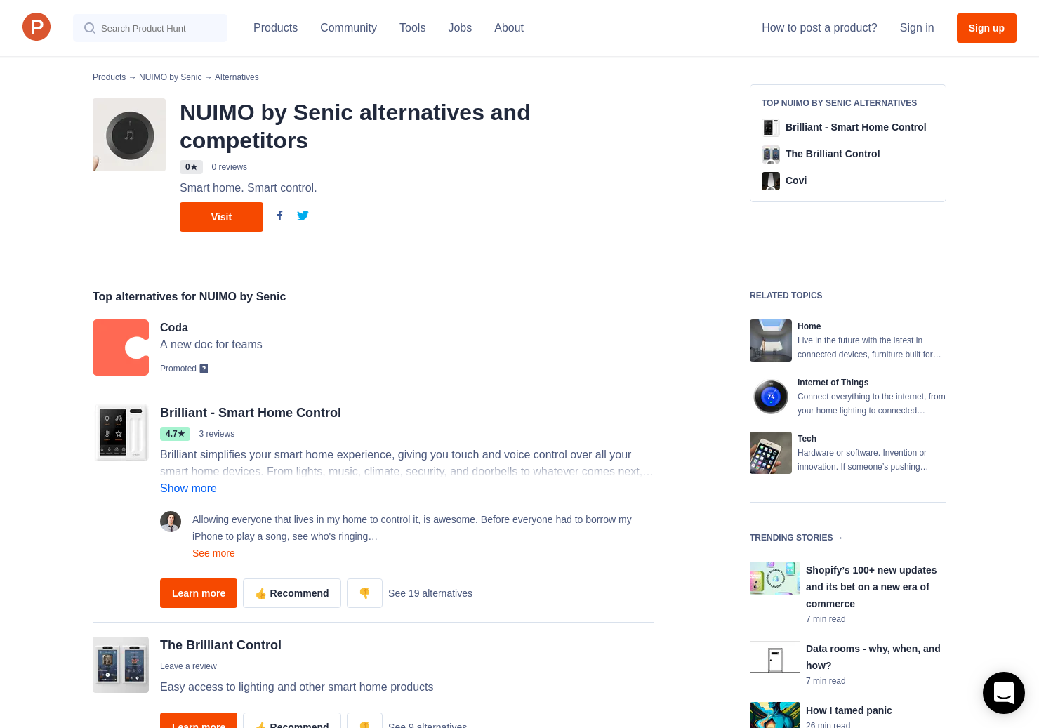 11 Alternatives to NUIMO by Senic   Product Hunt