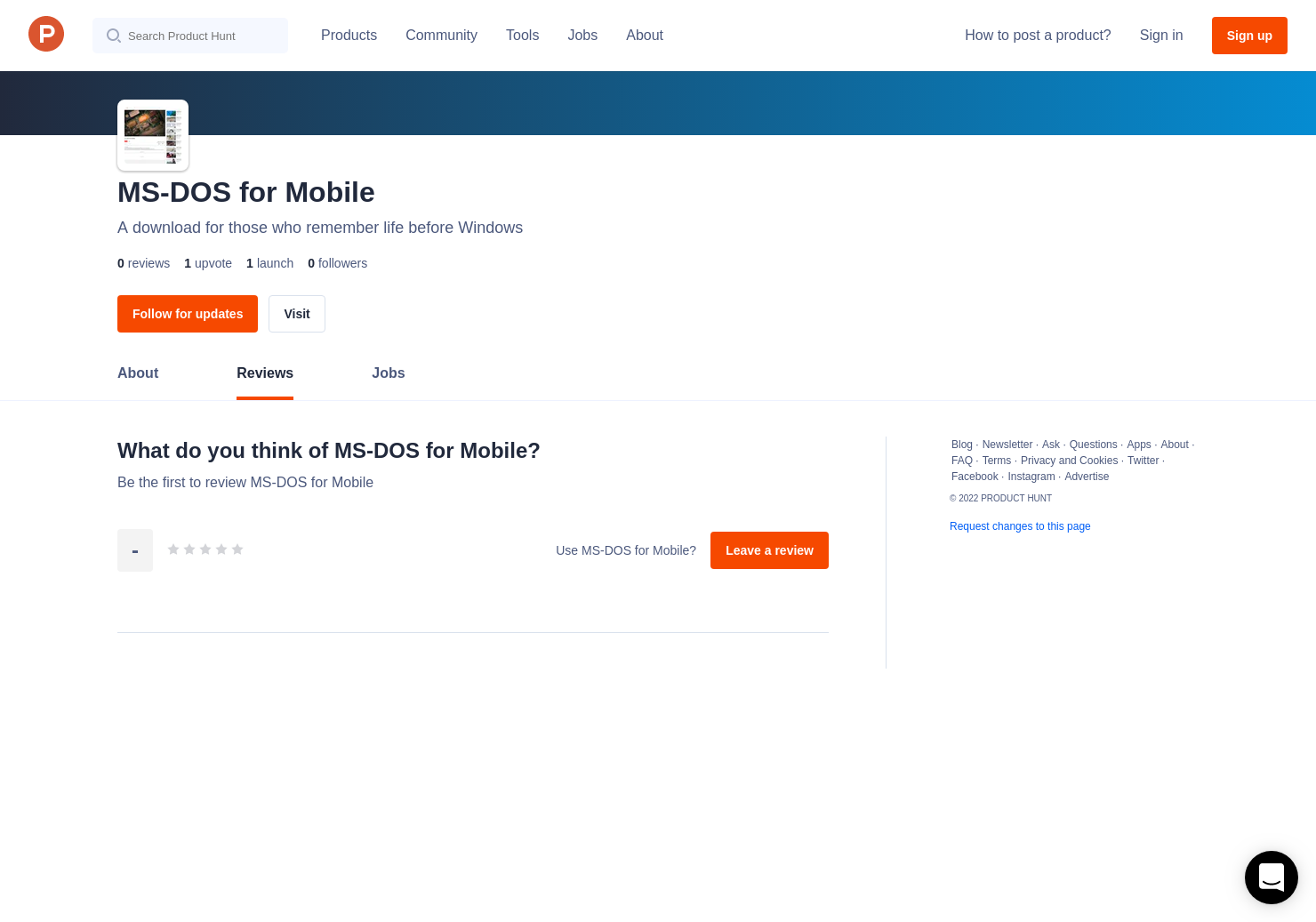 MS-DOS for Mobile Reviews - Pros, Cons and Rating | Product Hunt