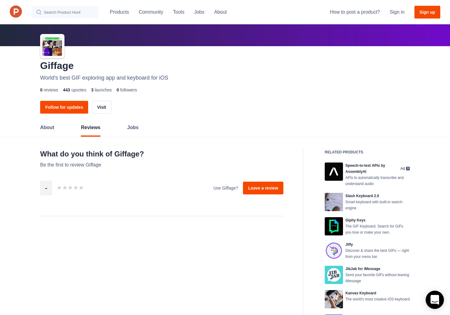 Giffage Reviews - Pros, Cons and Rating | Product Hunt