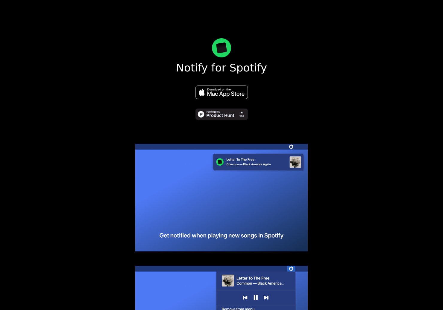Notify for Spotify