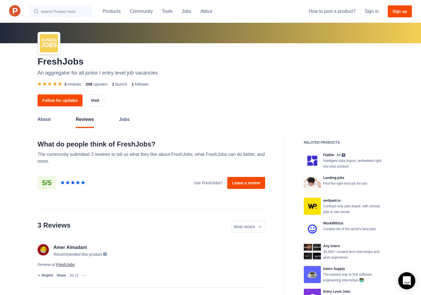 3 Freshjobs Reviews Pros Cons And Rating Product Hunt