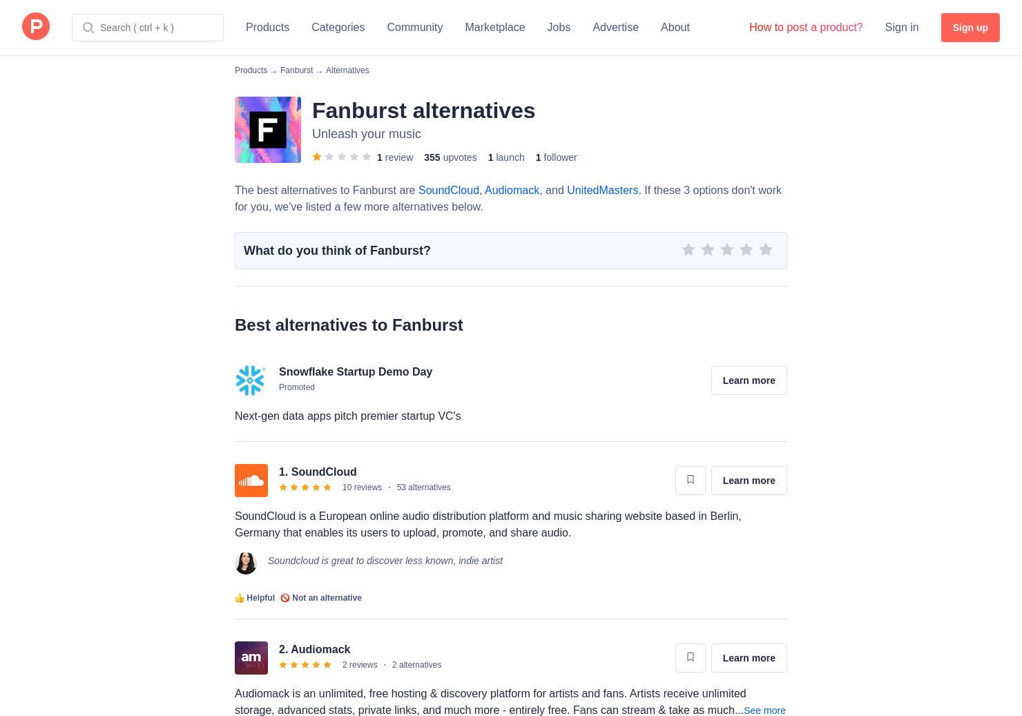 5 Alternatives to Fanburst | Product Hunt