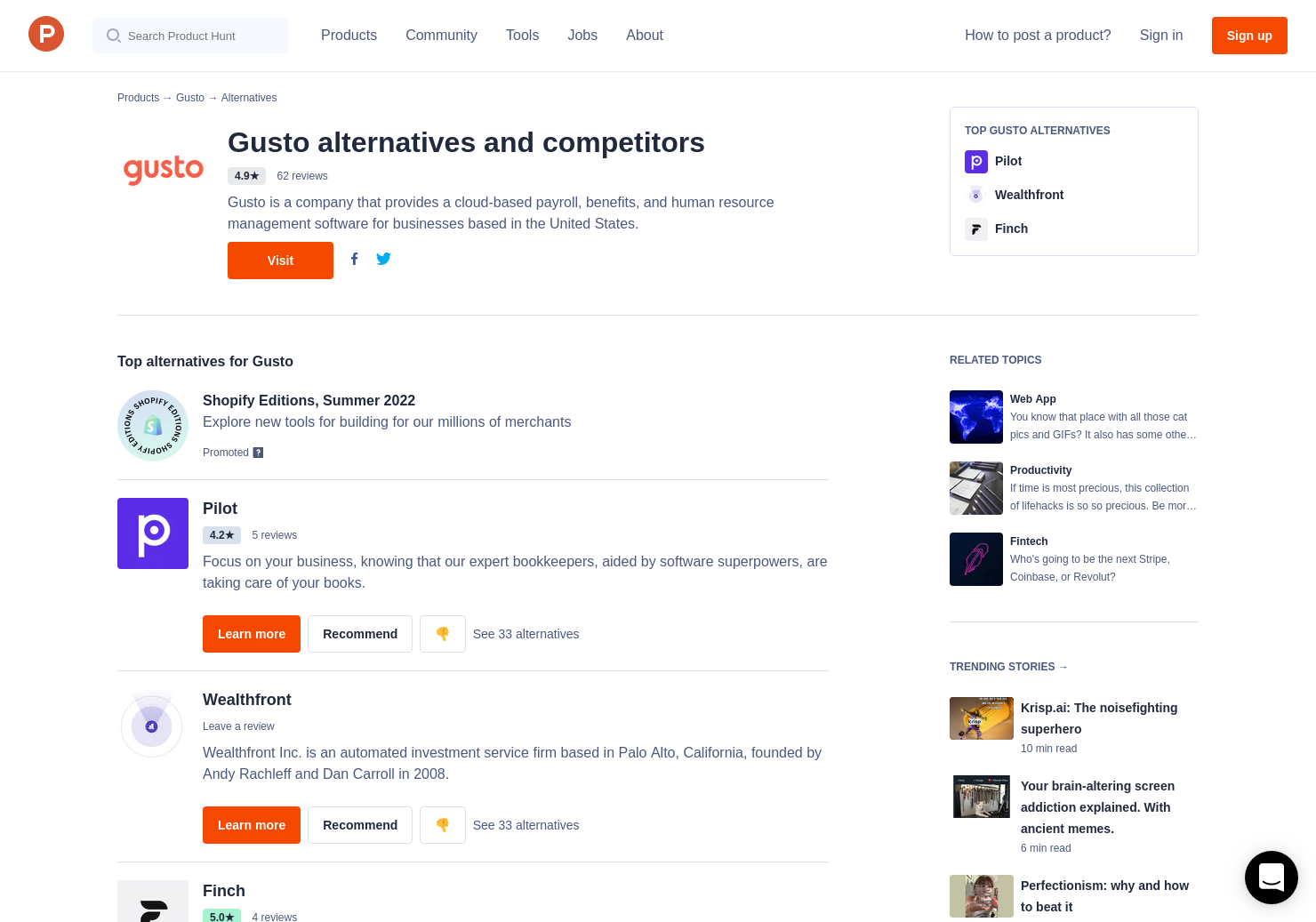 1 Alternatives to Gusto: Employee Handbook Guide | Product Hunt