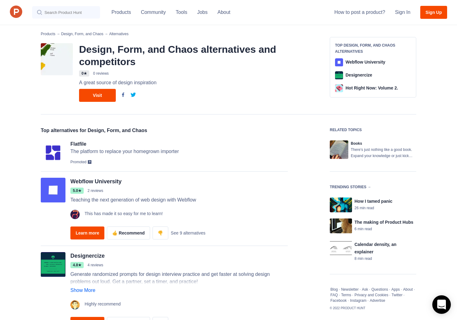 4 Alternatives to Design, Form, and Chaos | Product Hunt