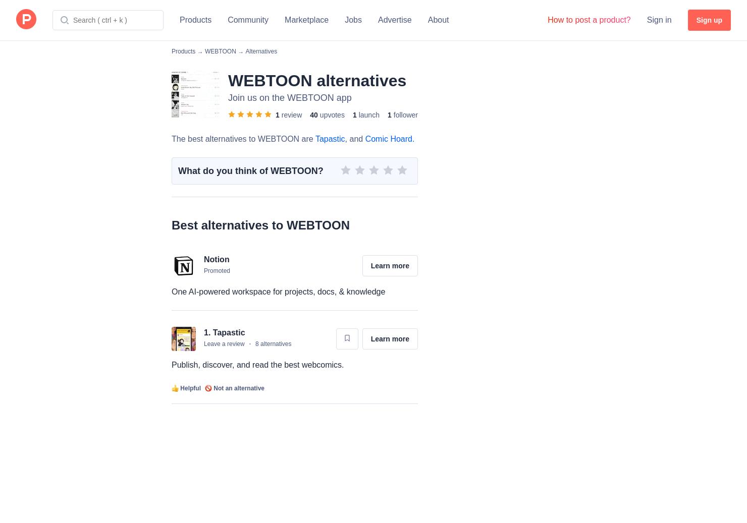 3 Alternatives to LINE Webtoon | Product Hunt