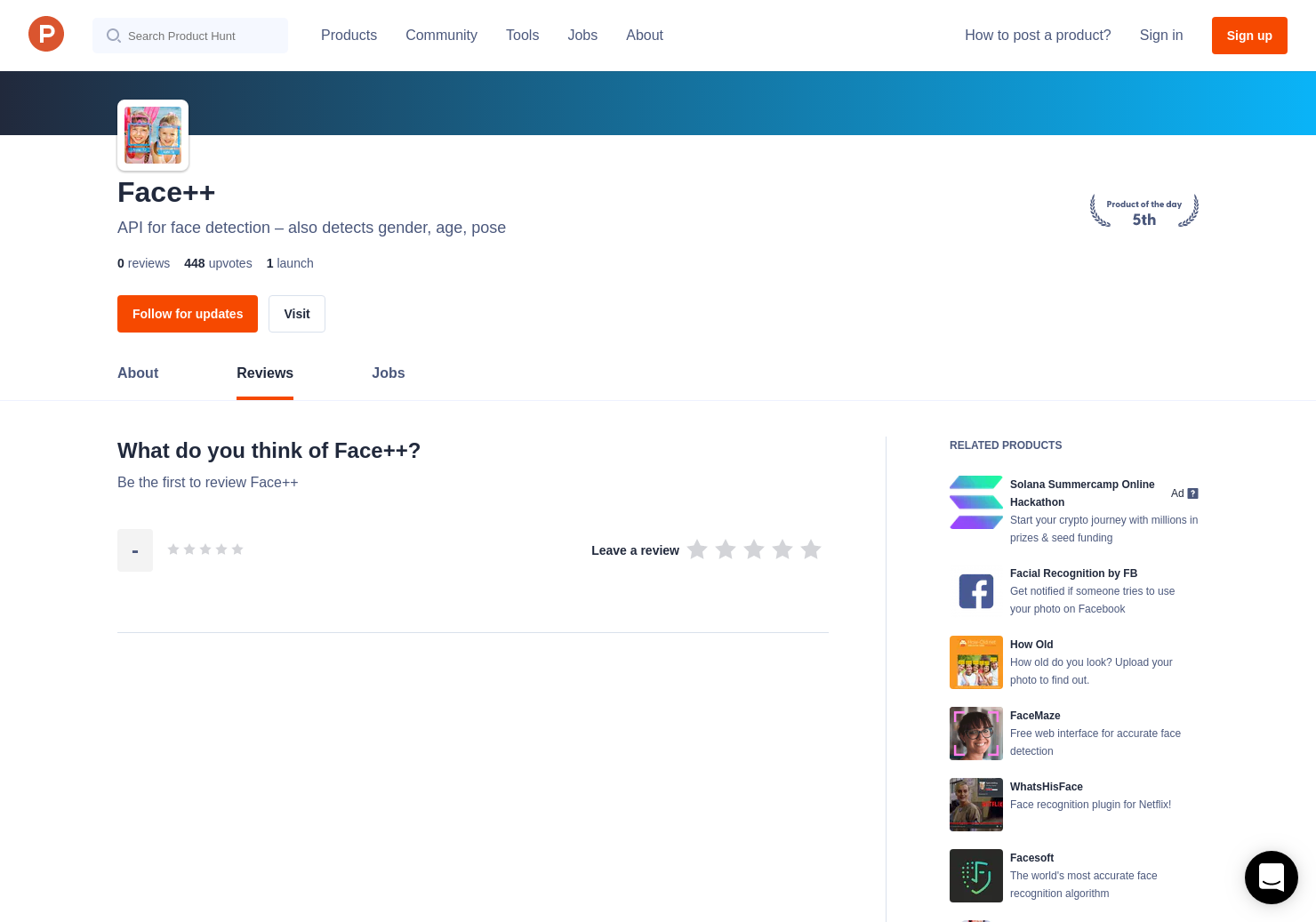 Face++ Reviews - Pros, Cons and Rating | Product Hunt