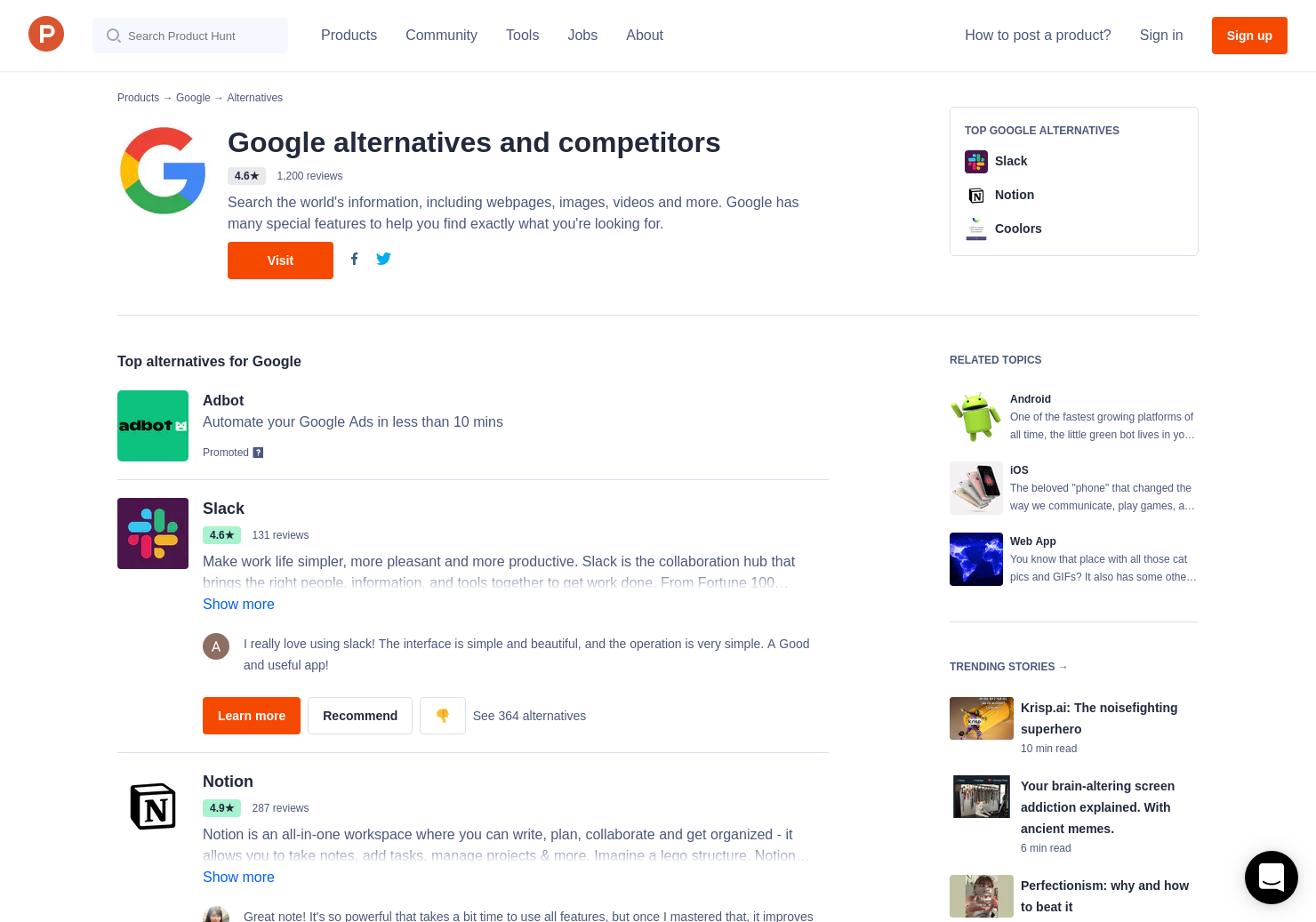 5 Alternatives to Google Trends | Product Hunt