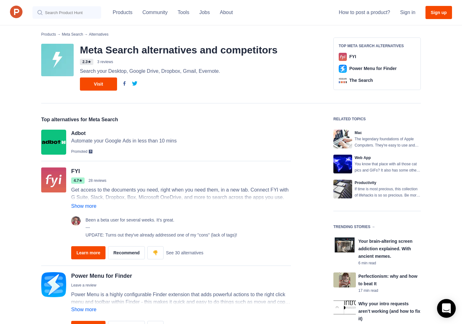 21 Alternatives to Meta Search for Mac | Product Hunt