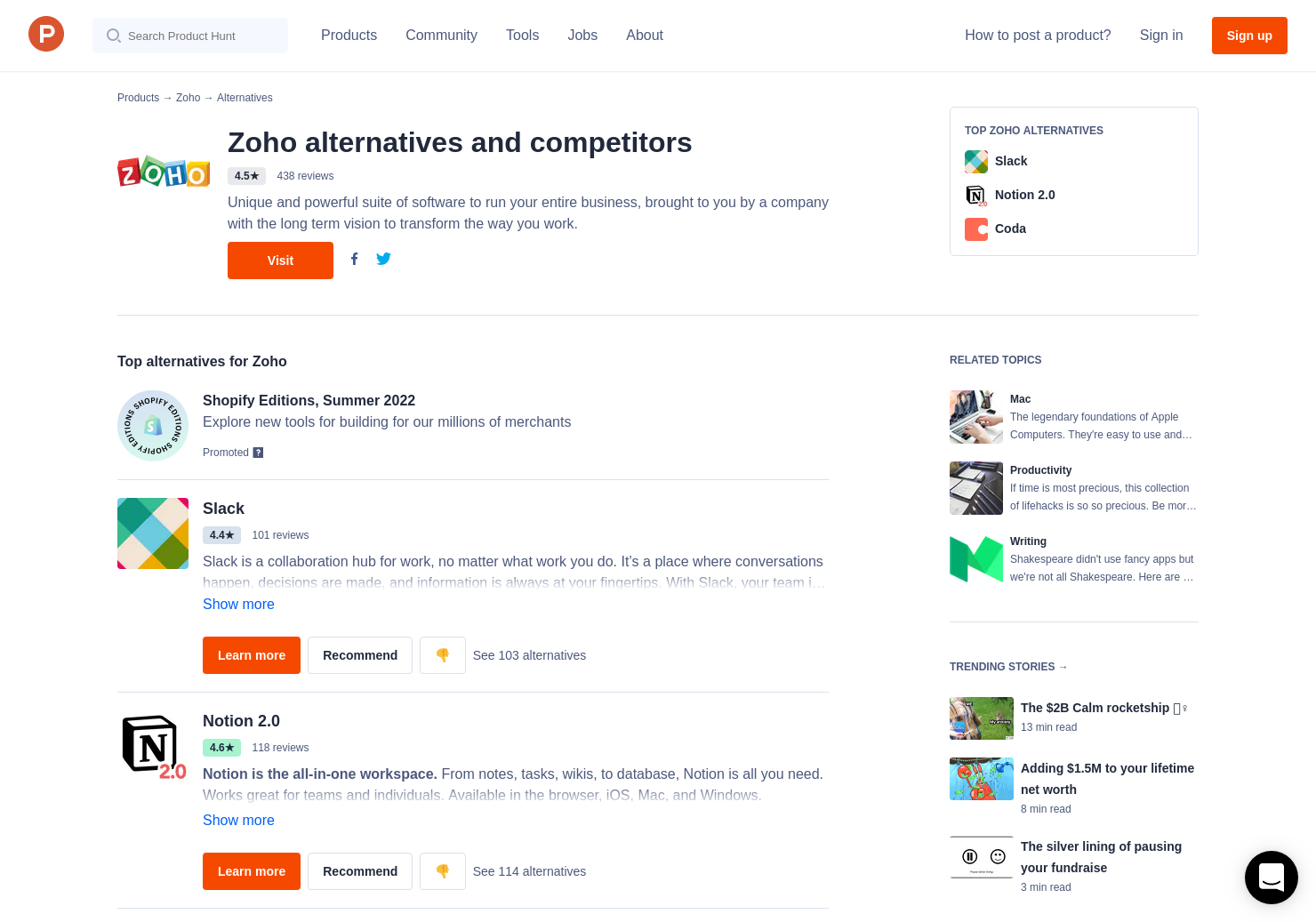 2 Alternatives to Zoho Inventory | Product Hunt