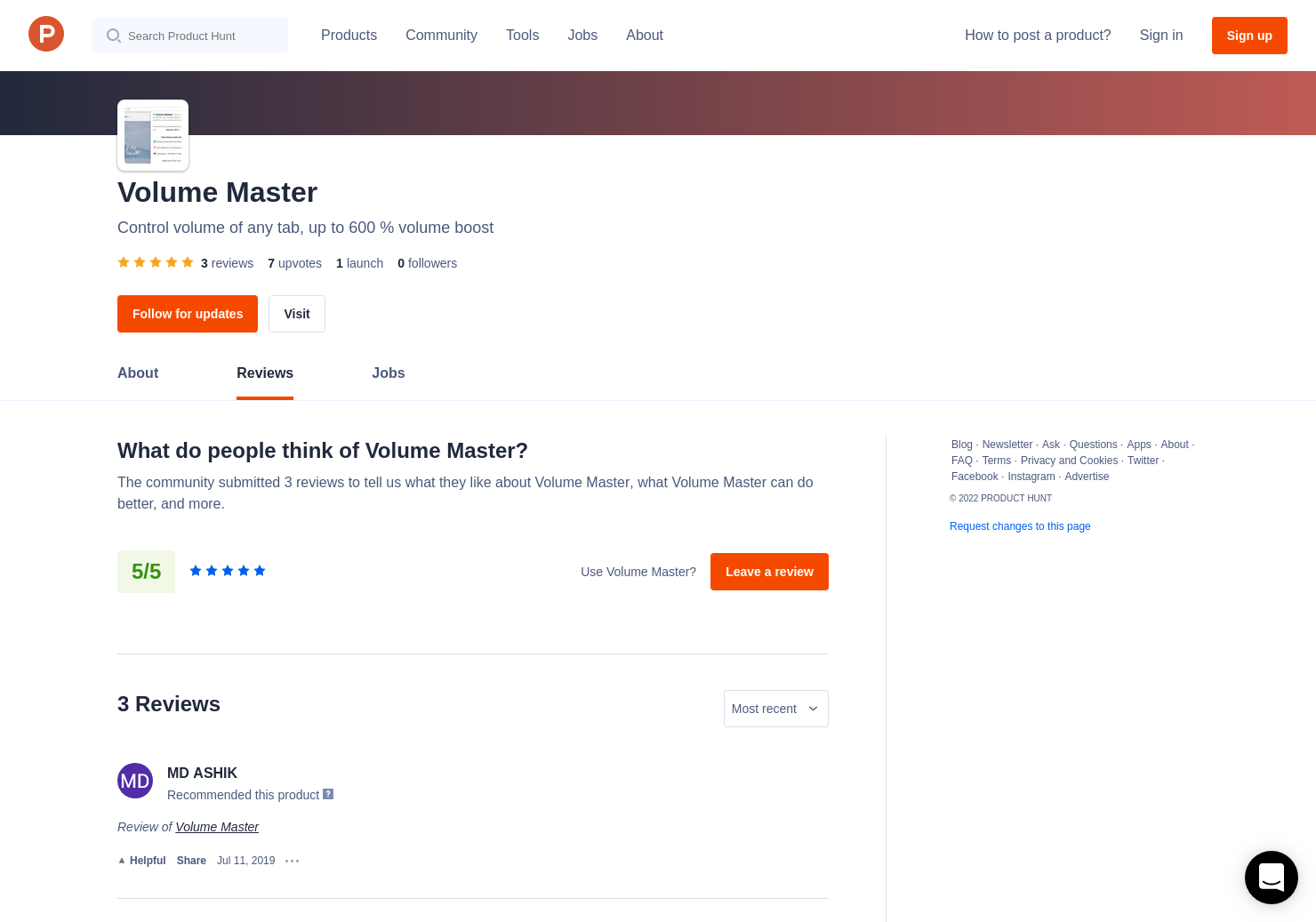 3 Volume Master Reviews - Pros, Cons and Rating | Product Hunt