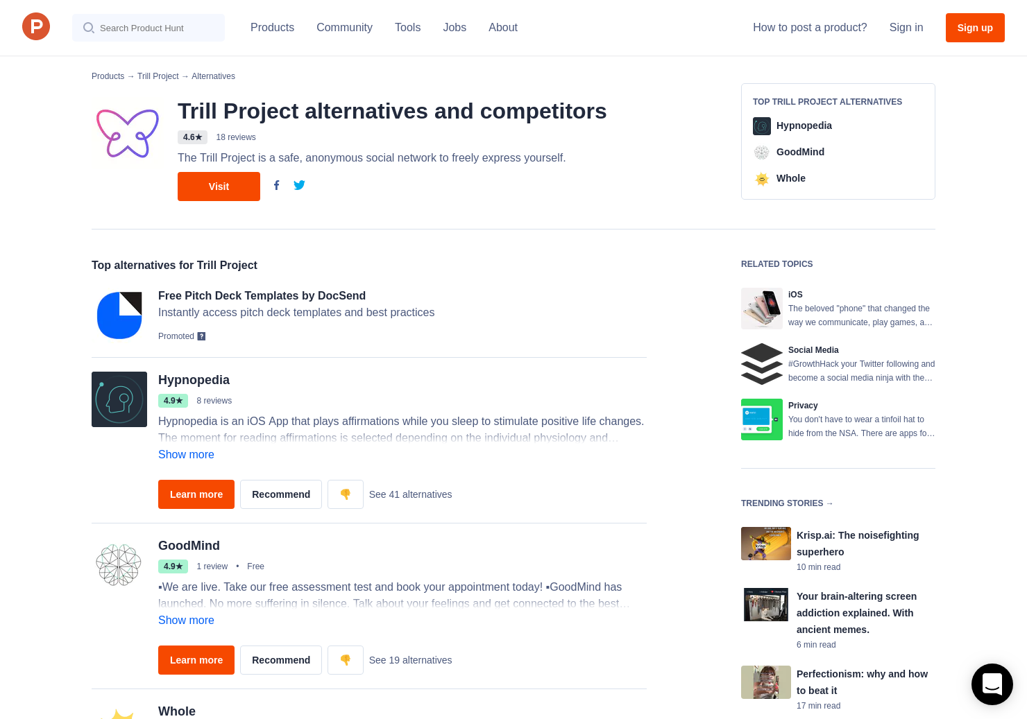 18 Alternatives to Trill for iPhone | Product Hunt