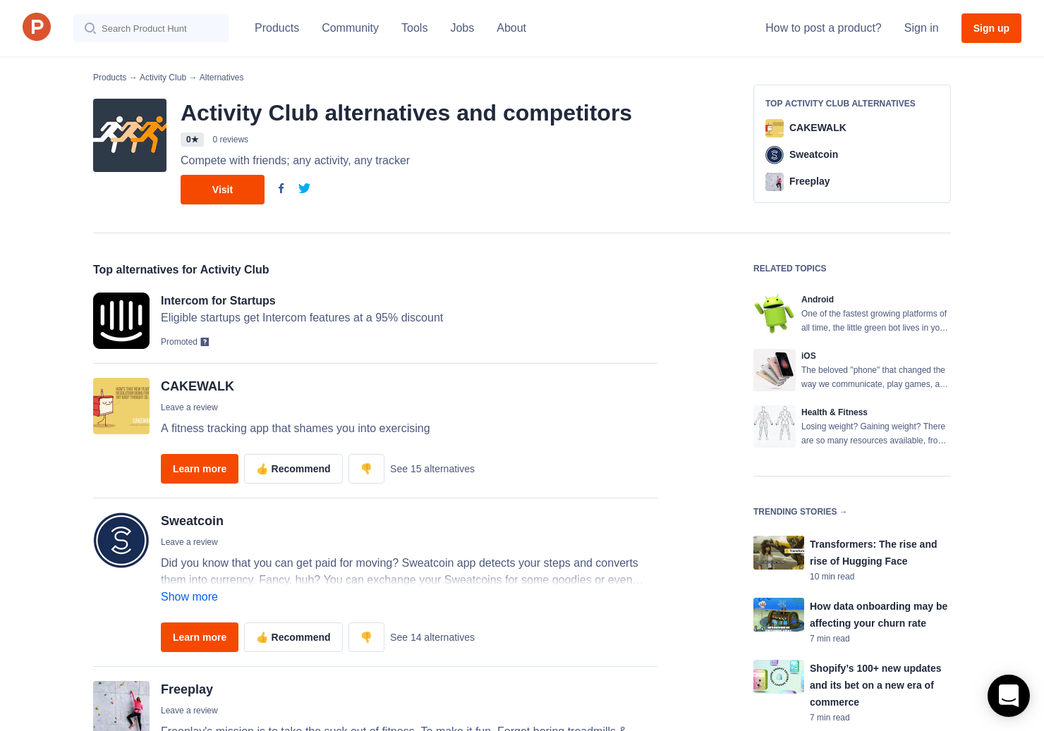 7 Alternatives to Activity Club for Android, iPhone, Apple