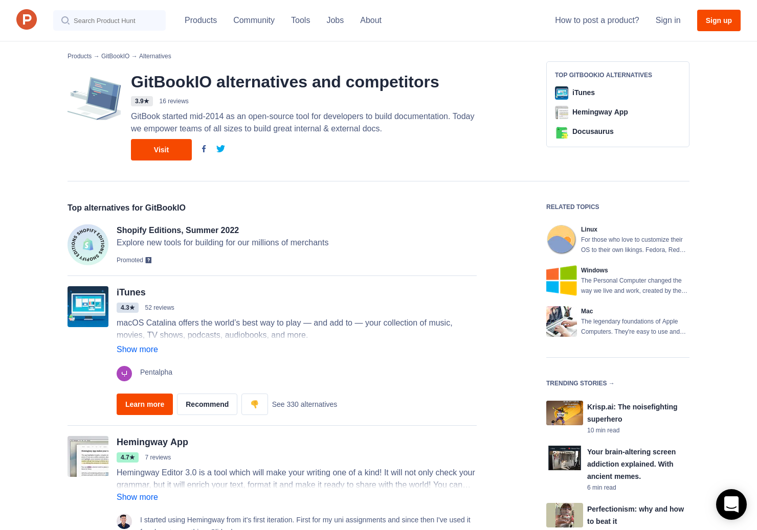 10 Alternatives to React in Patterns | Product Hunt