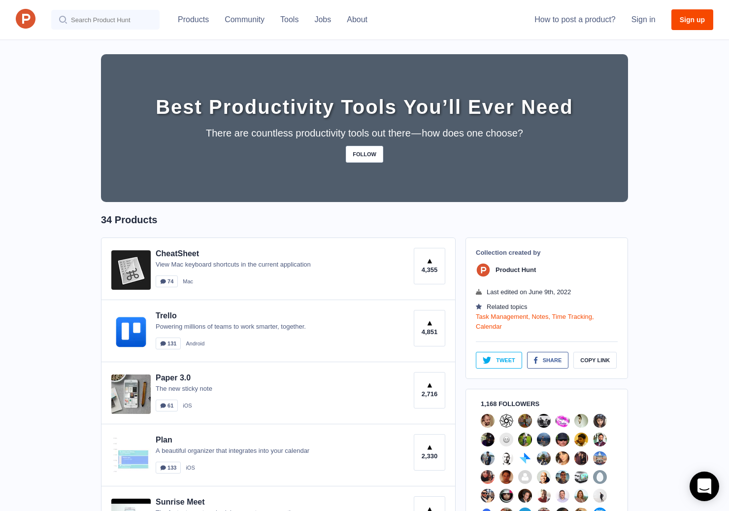 Best Productivity Tools You'll Ever Need | Product Hunt