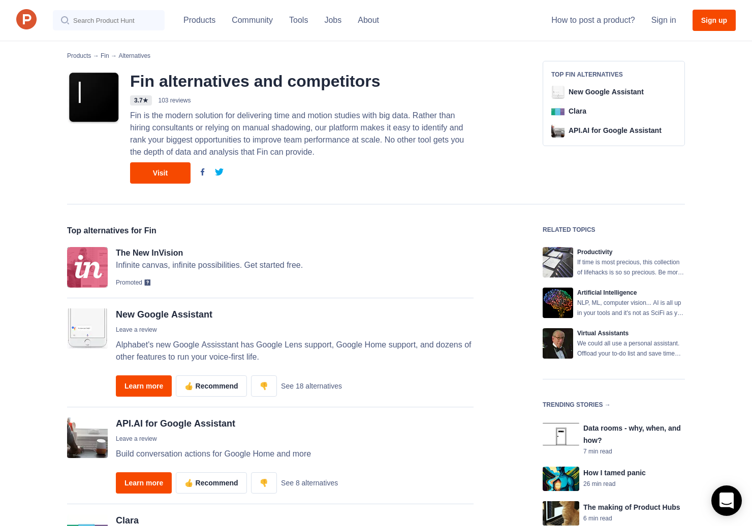 22 Alternatives to Fin | Product Hunt