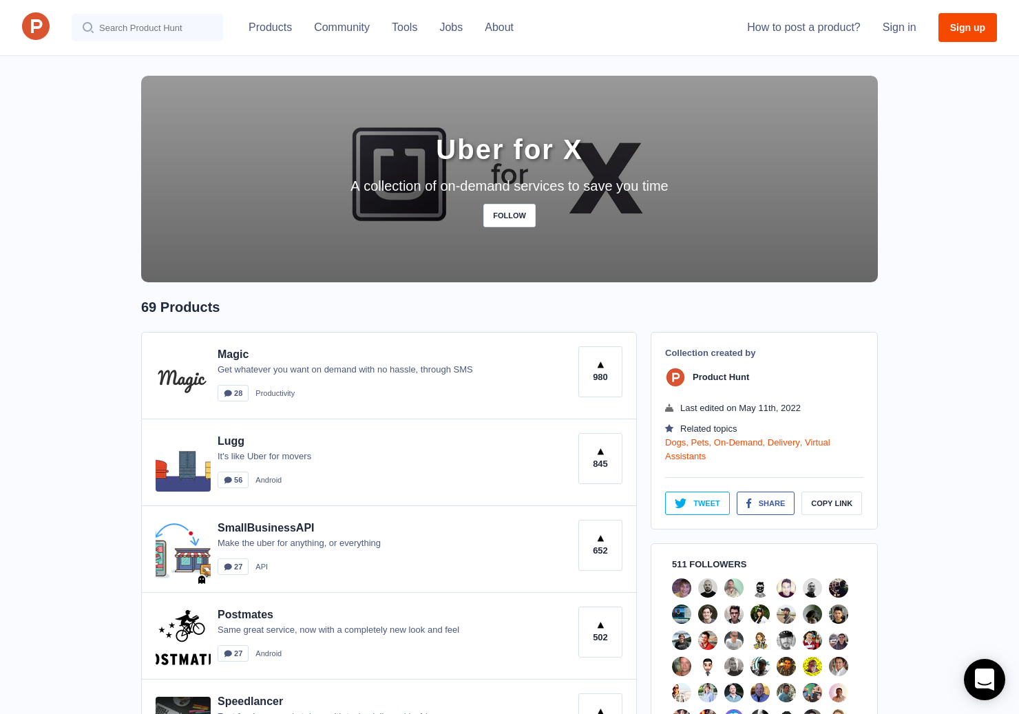Uber for X | Product Hunt