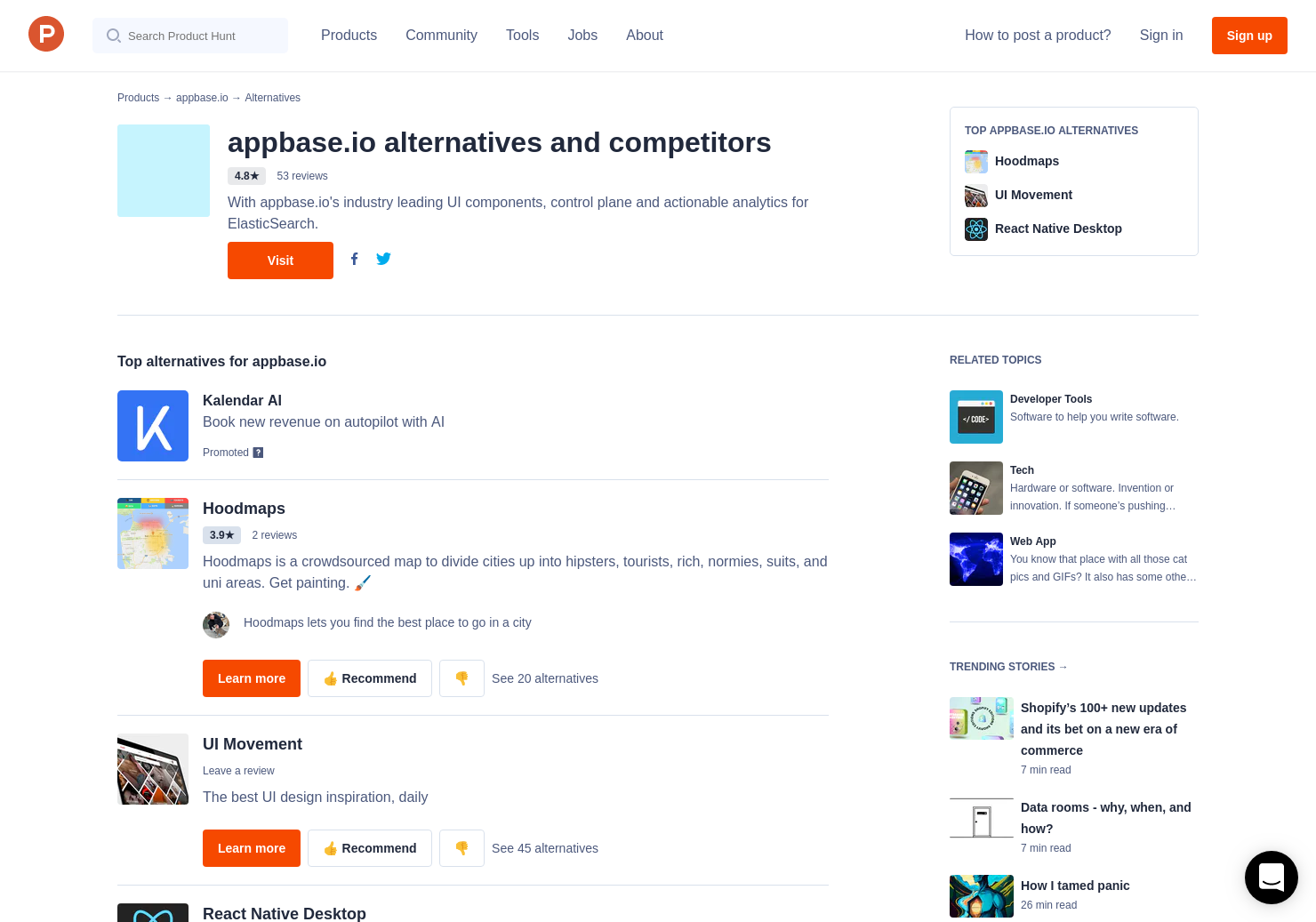 13 Alternatives to ReactiveSearch Native for Android, iPhone
