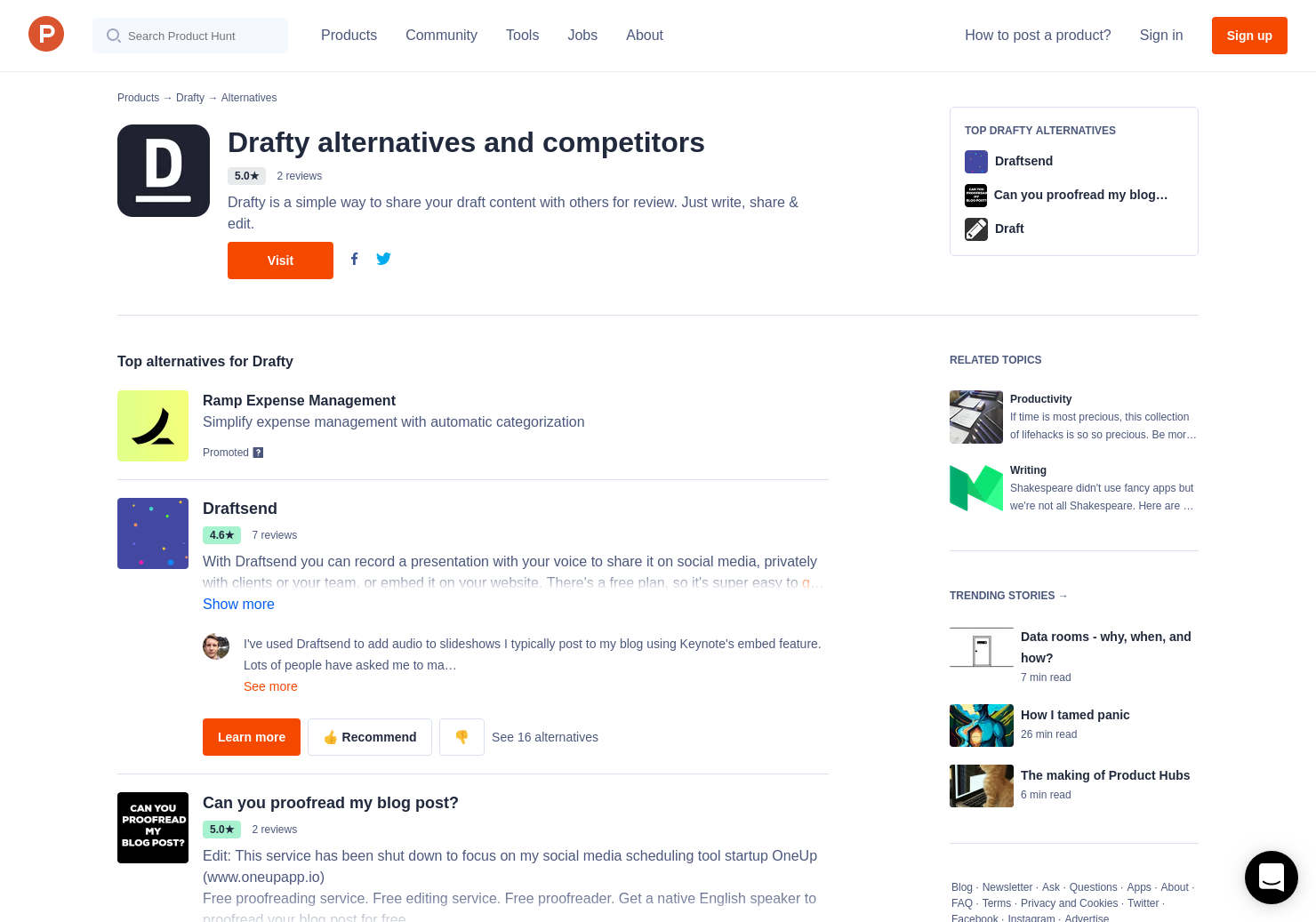 9 Alternatives to Drafty | Product Hunt