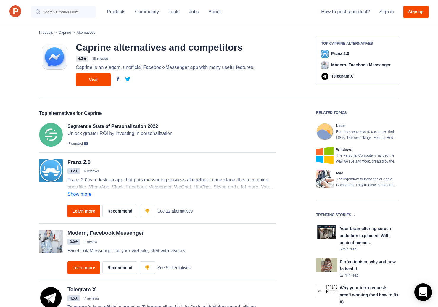 7 Alternatives to Caprine for Linux, Windows, Mac | Product Hunt