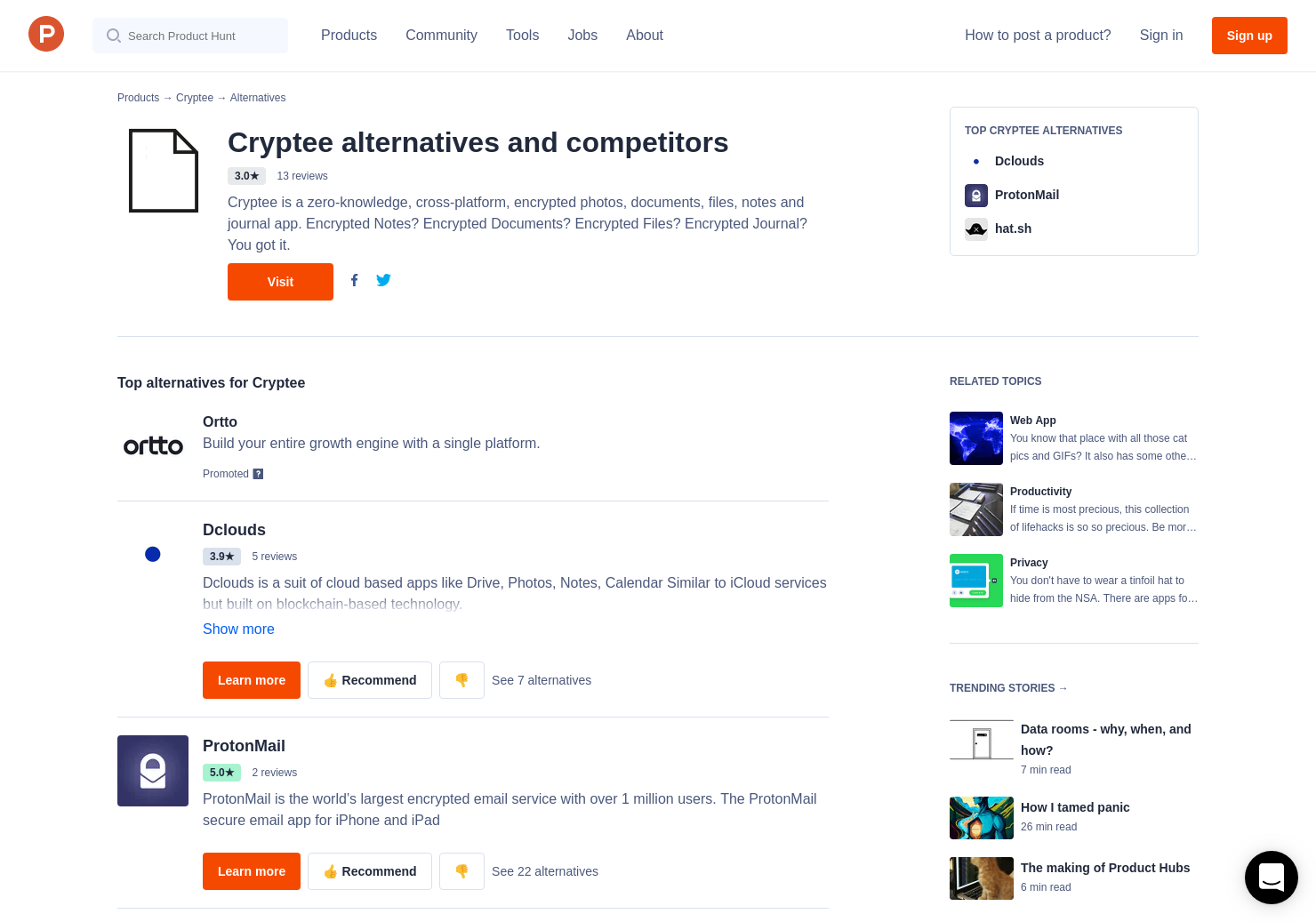 17 Alternatives to Cryptee   Product Hunt