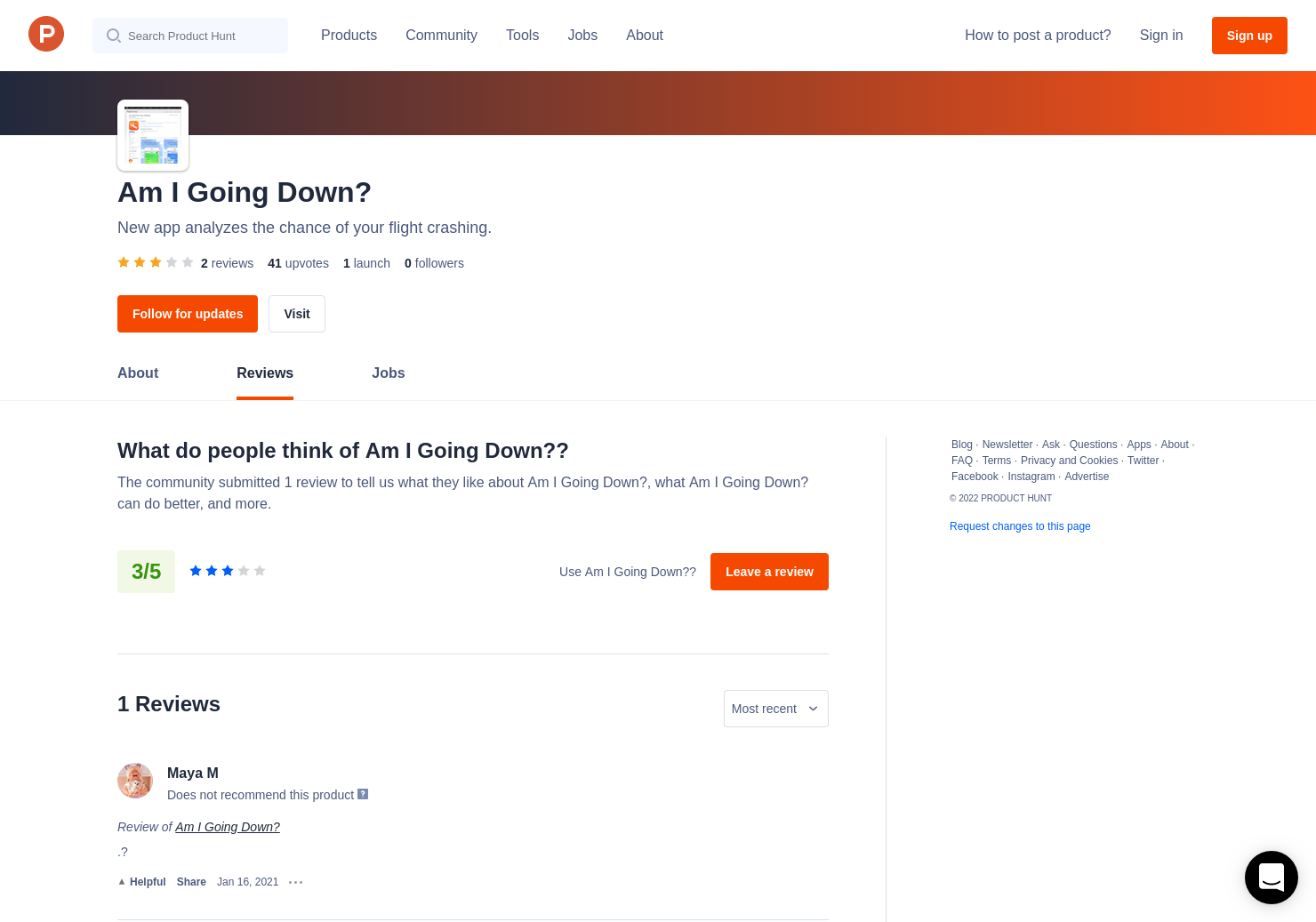 Am I Going Down? Reviews - Pros, Cons and Rating | Product Hunt