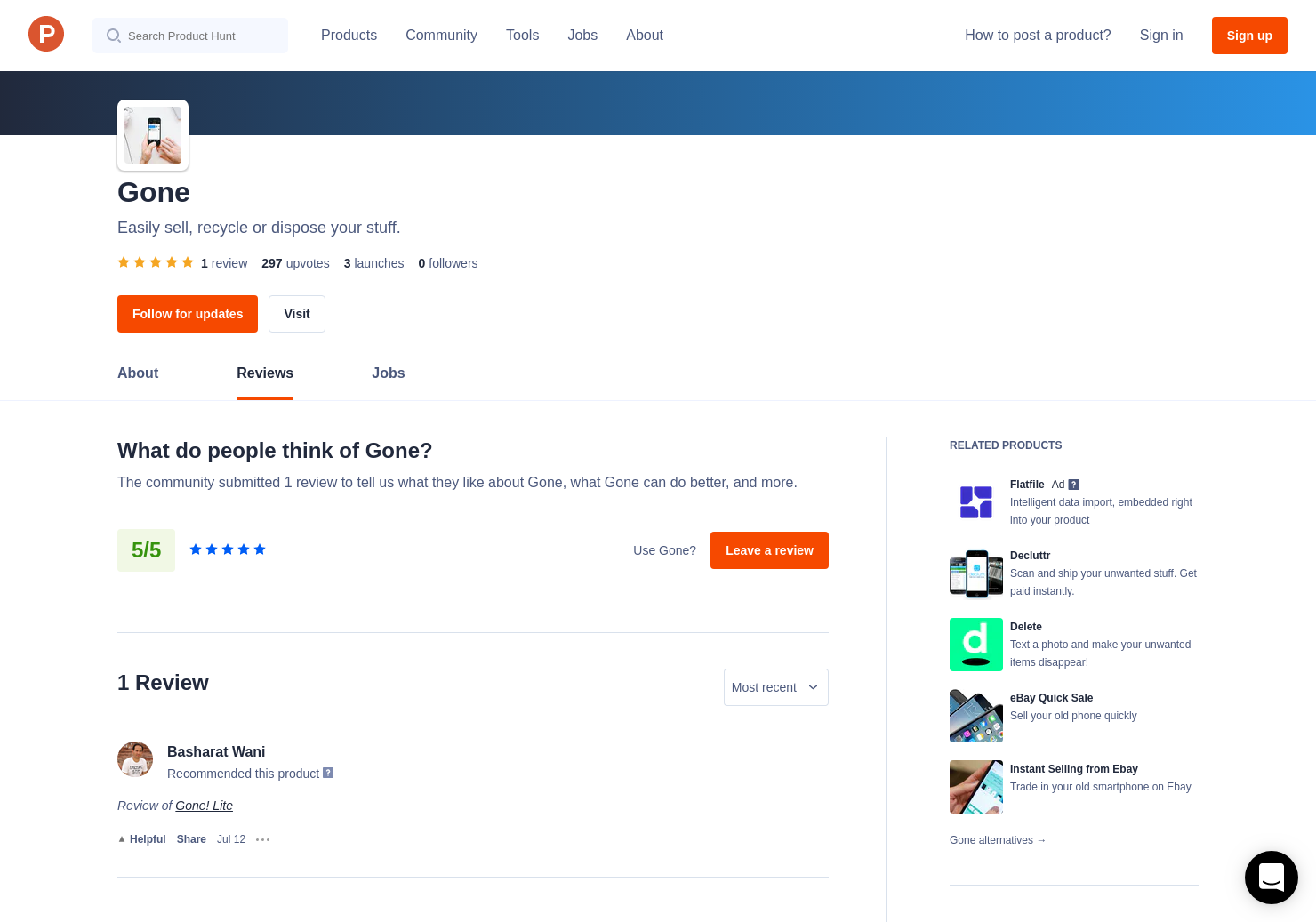 1 Gone! Lite Reviews - Pros, Cons and Rating   Product Hunt
