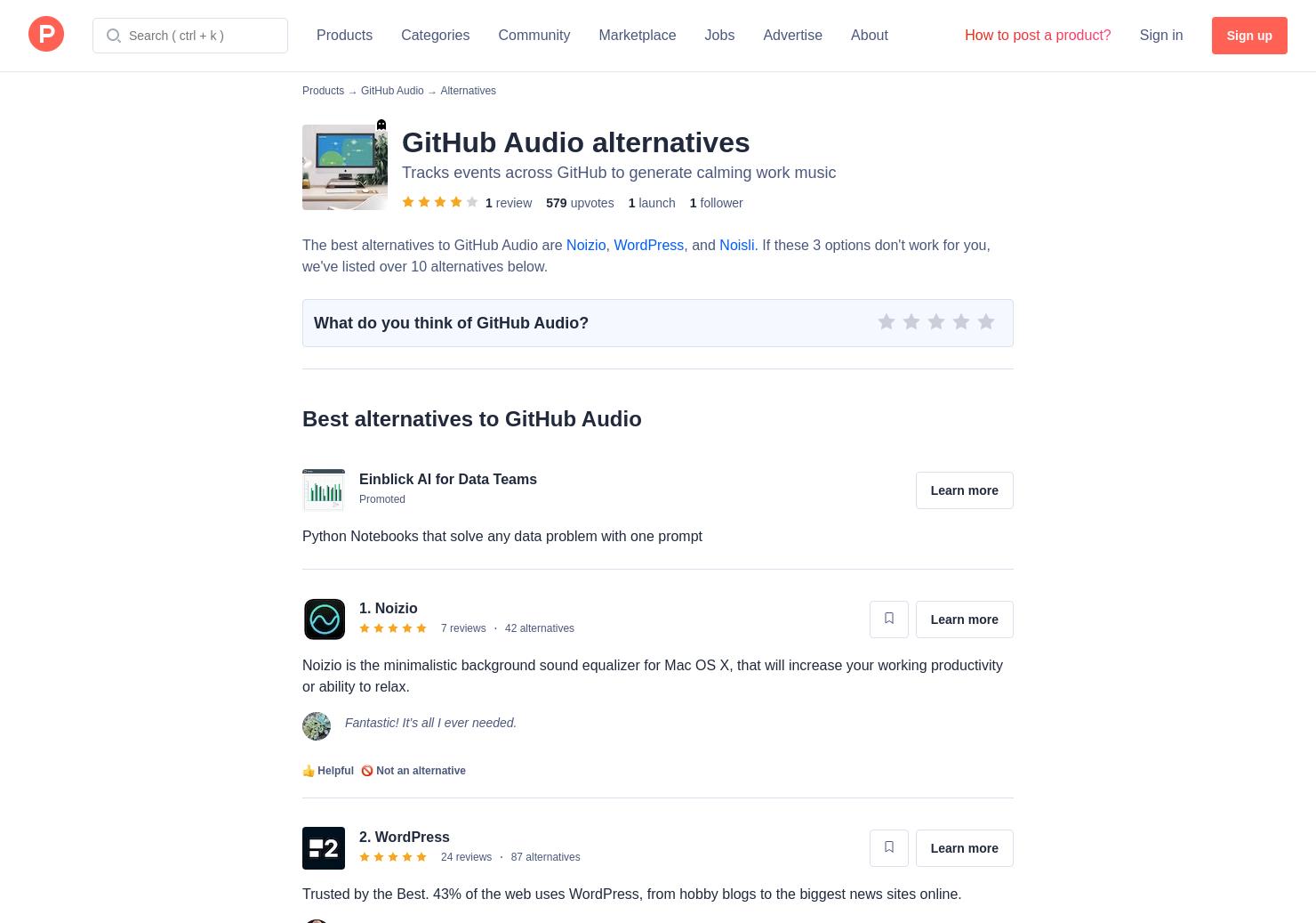 15 Alternatives to GitHub Audio | Product Hunt