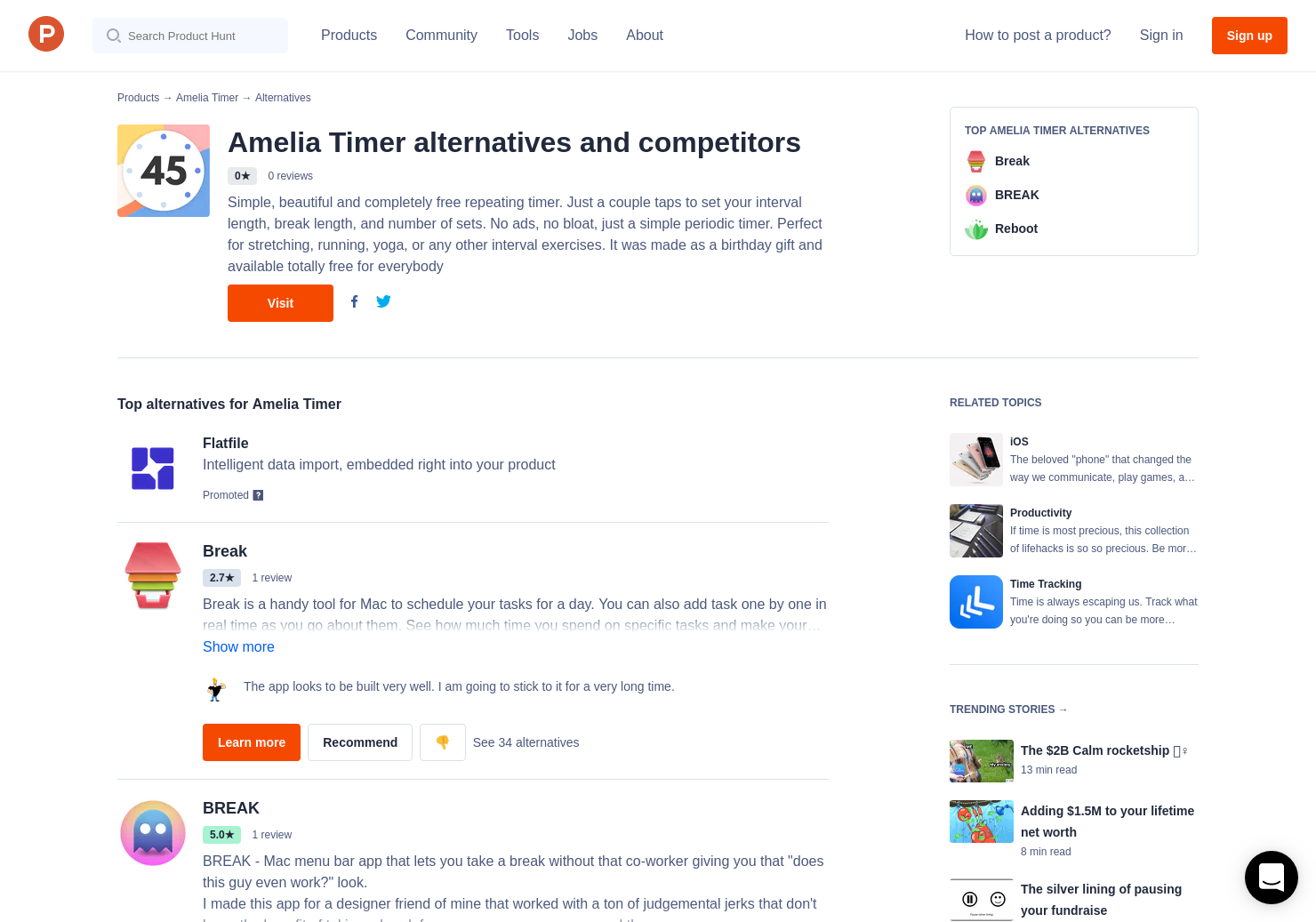 6 Alternatives To Amelia Timer For Iphone Product Hunt Simple