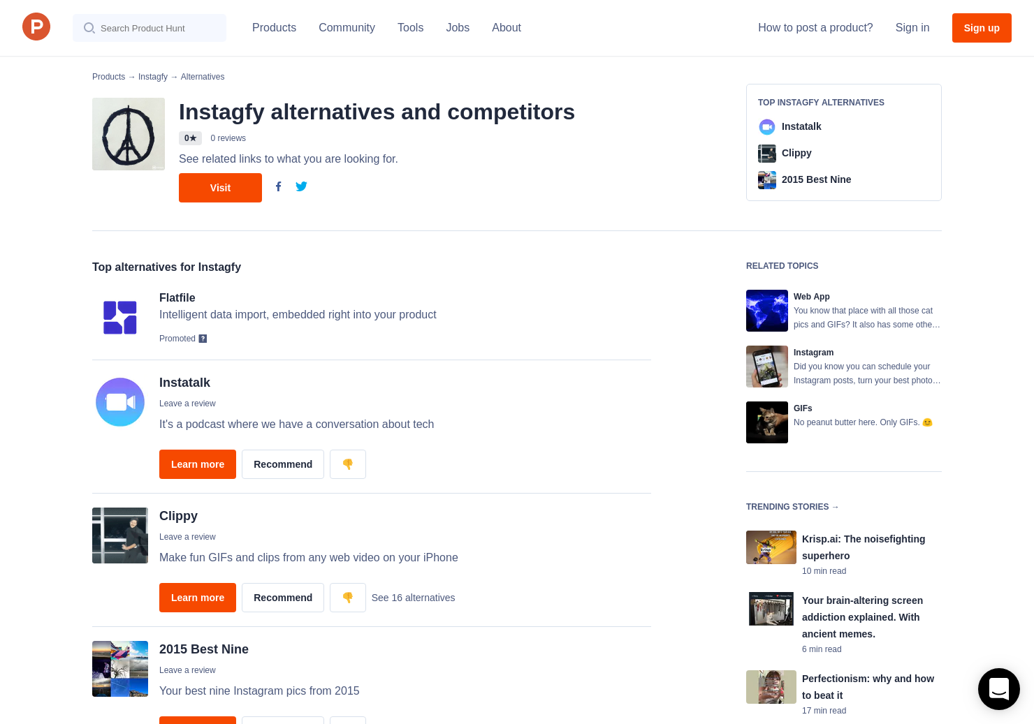 7 Alternatives to Instagfy | Product Hunt