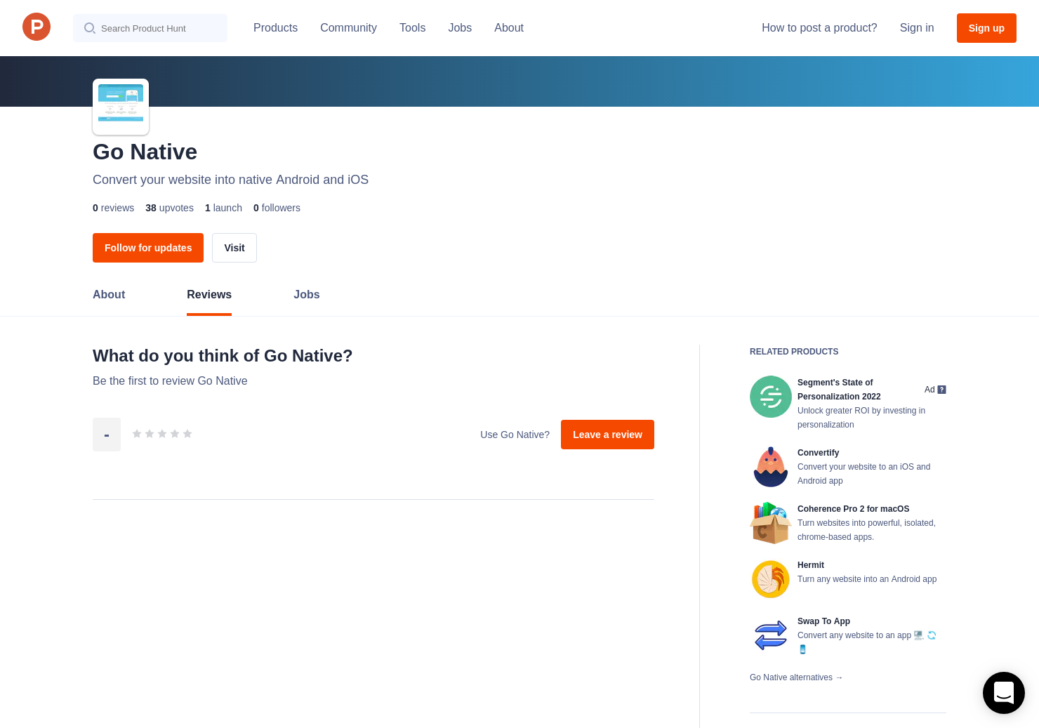 Go Native Reviews - Pros, Cons and Rating   Product Hunt