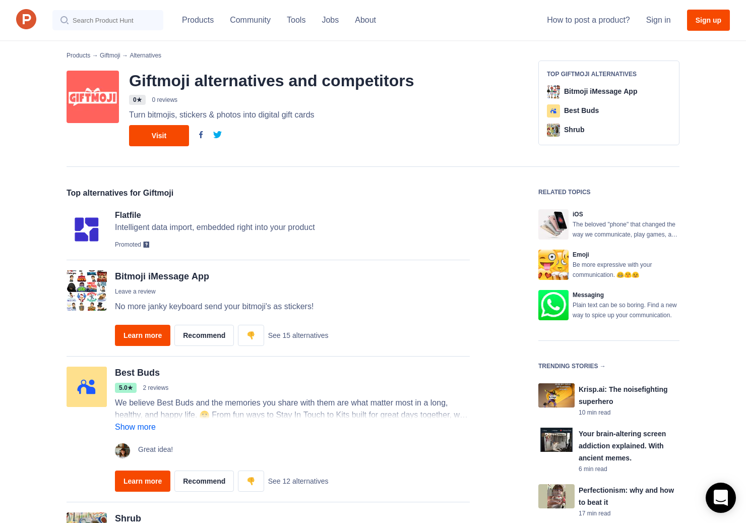 3 Alternatives to Giftmoji for iPhone   Product Hunt