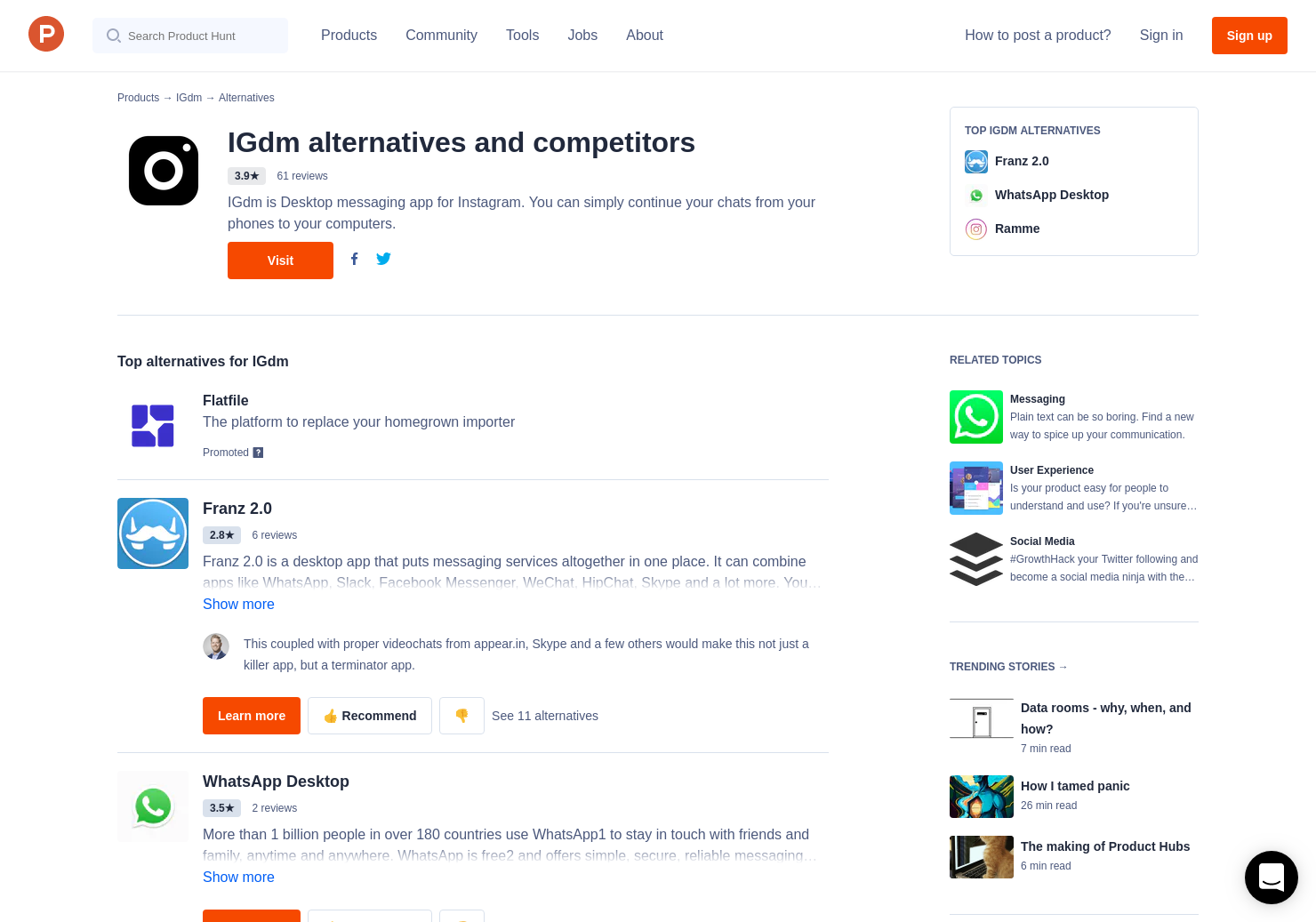9 Alternatives to IGdm | Product Hunt