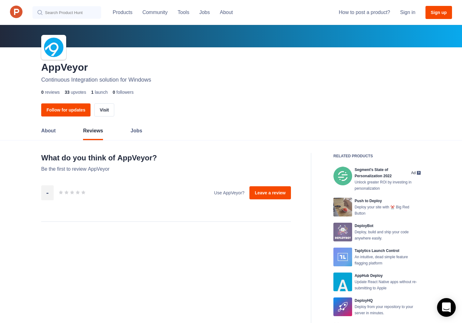 AppVeyor Reviews - Pros, Cons and Rating   Product Hunt