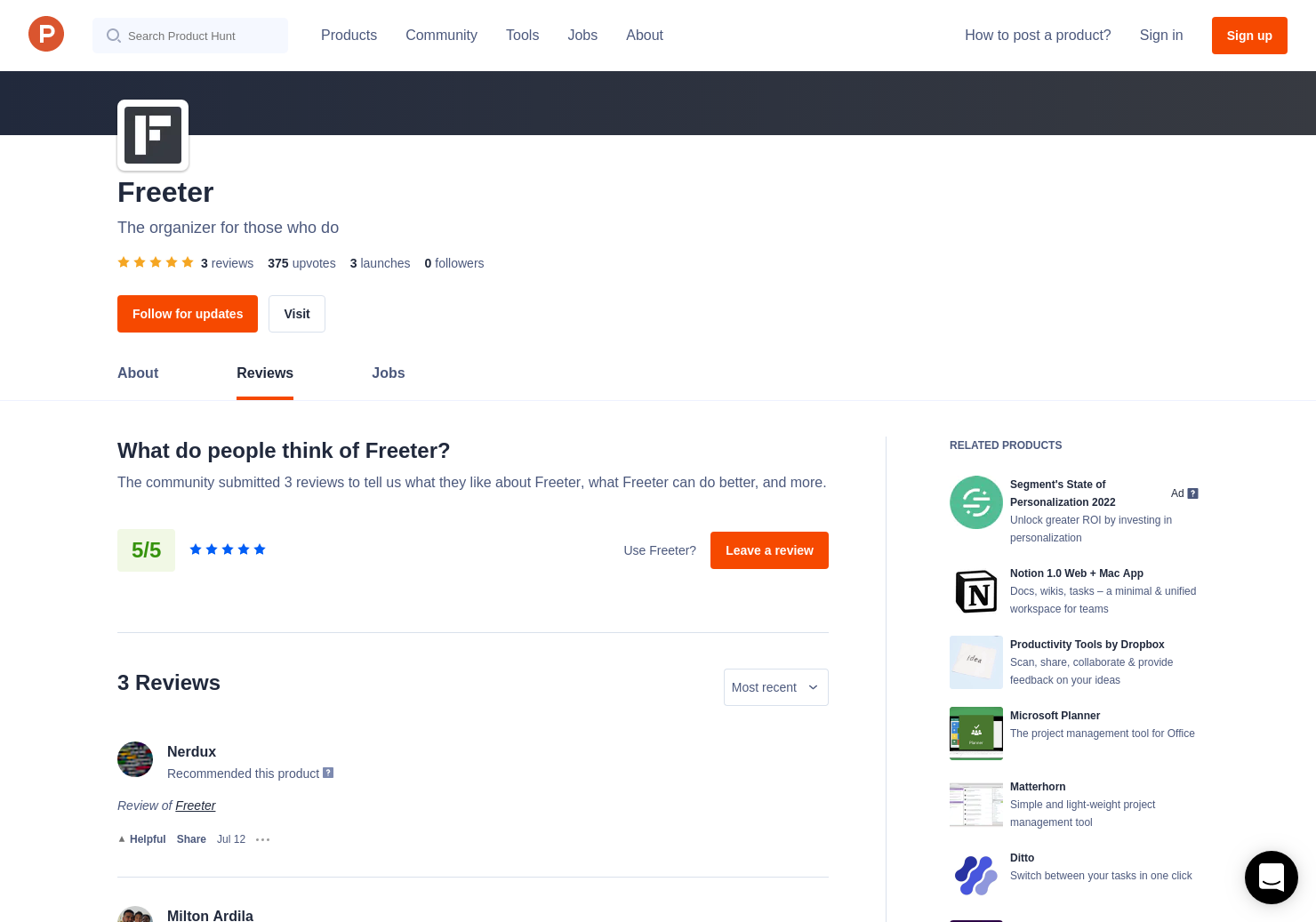 Freeter 1 0 Reviews - Pros, Cons and Rating | Product Hunt