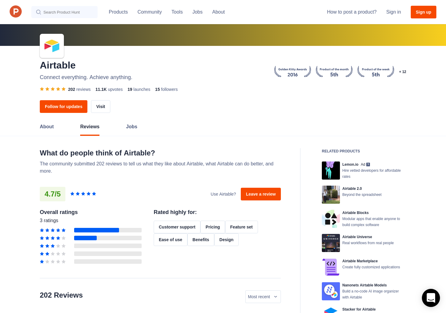 1 Airtable Forms Reviews - Pros, Cons and Rating   Product Hunt