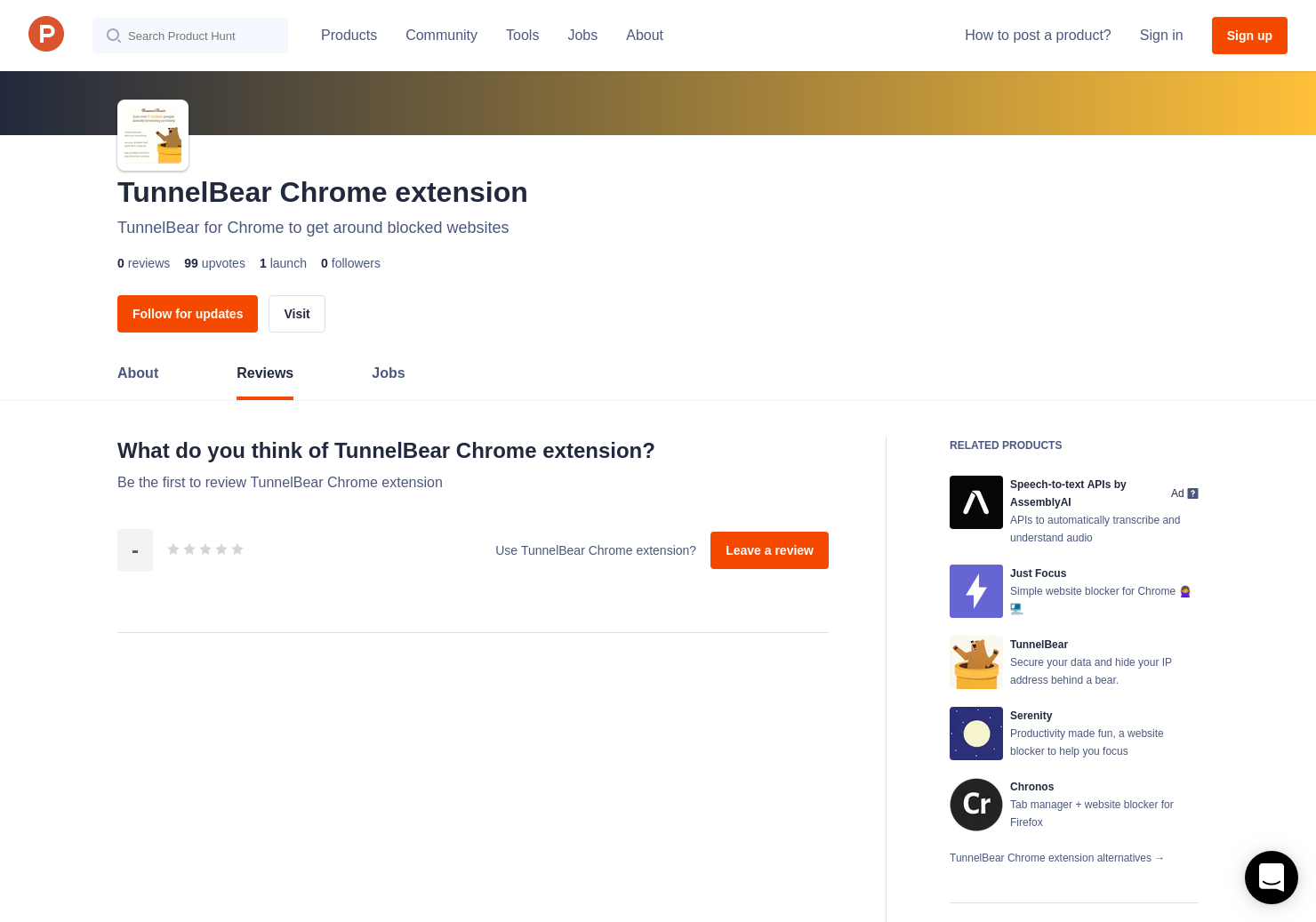 TunnelBear Chrome extension Reviews - Pros, Cons and Rating