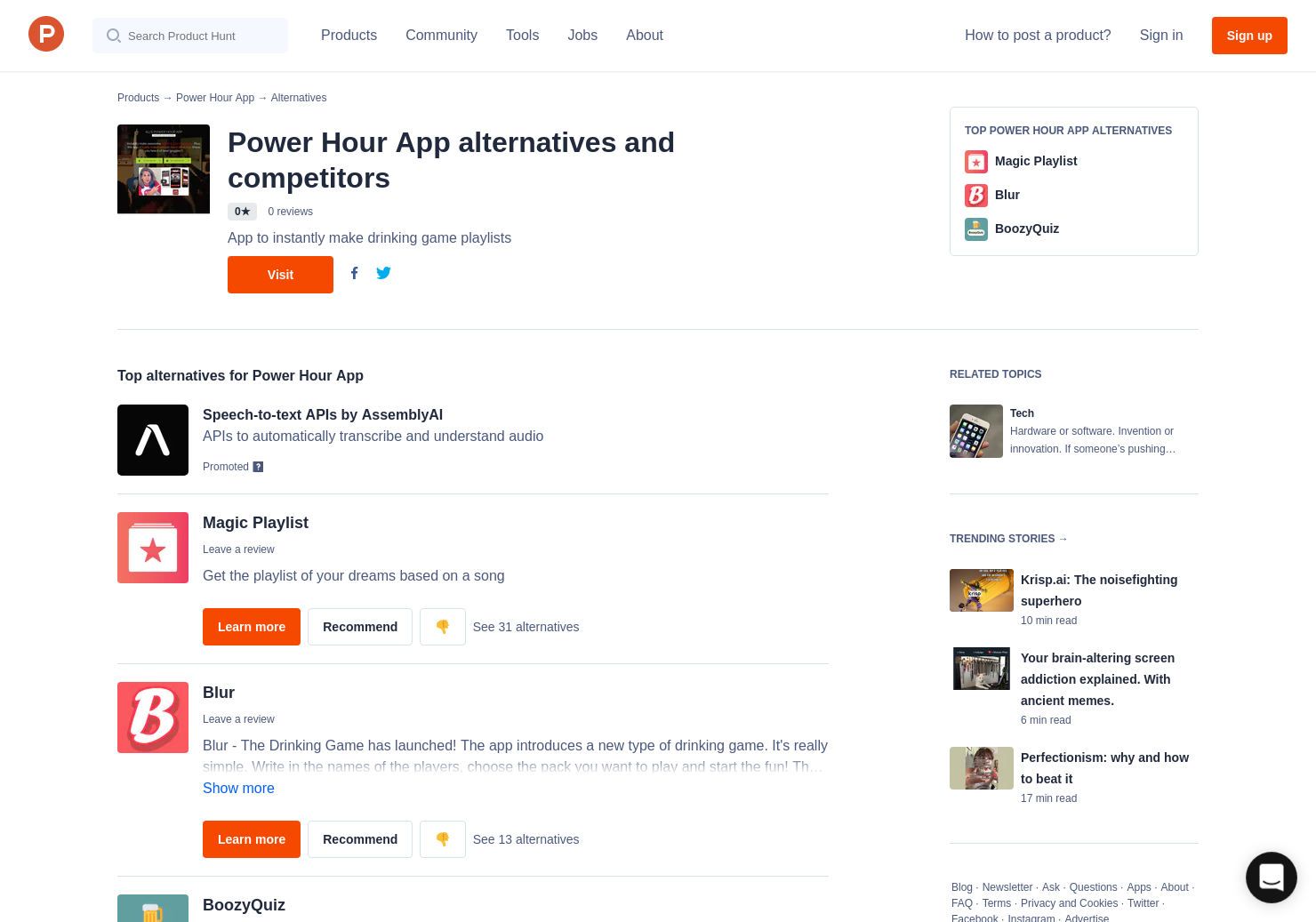 3 Alternatives to Power Hour App   Product Hunt