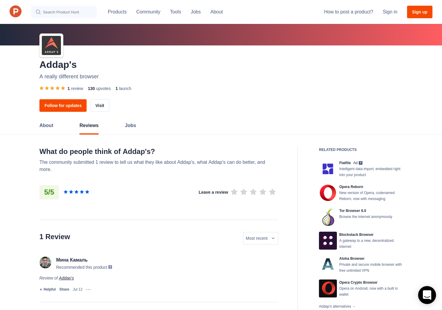 Addap's Reviews - Pros, Cons and Rating | Product Hunt