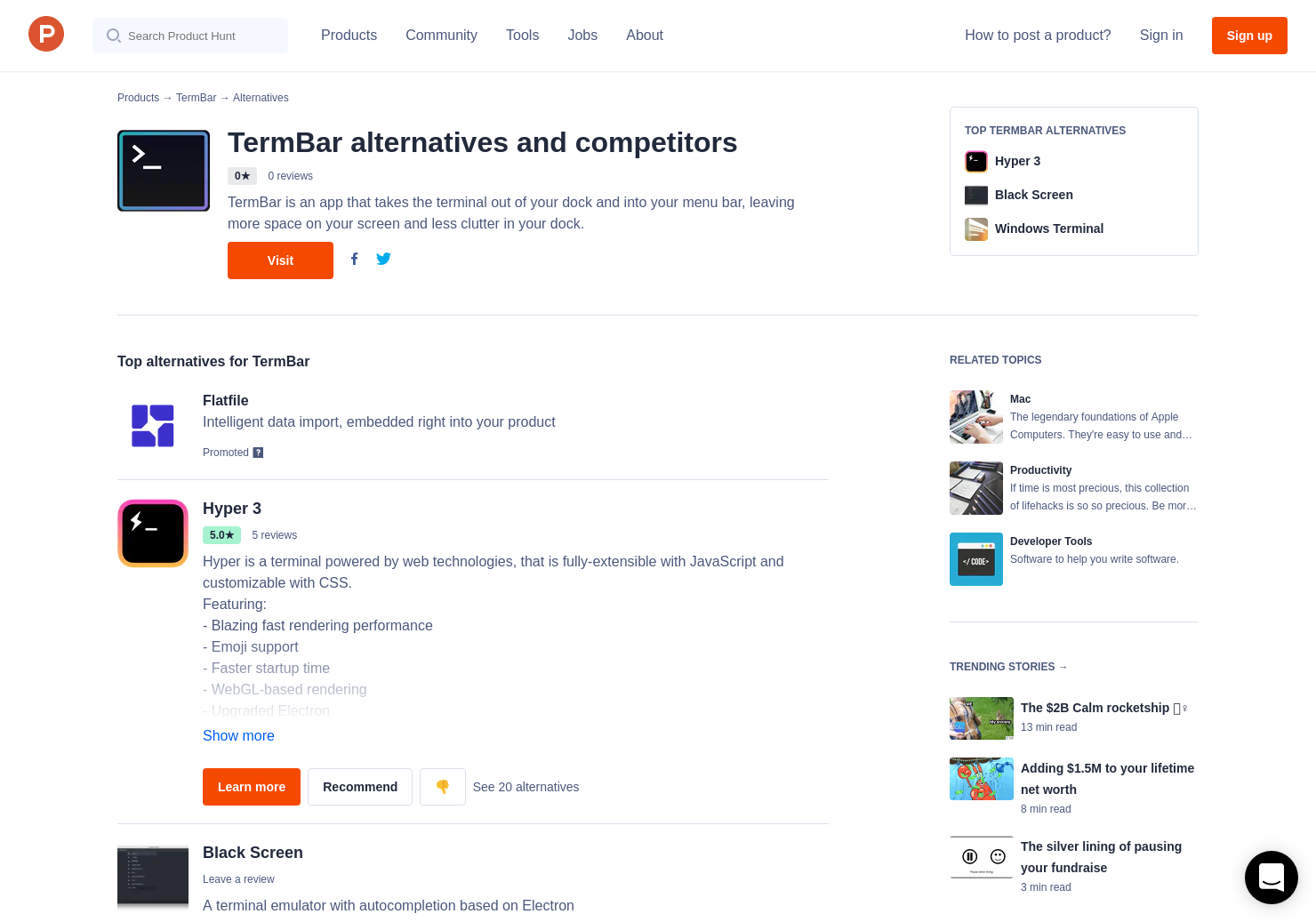 13 Alternatives to TermBar for Mac | Product Hunt