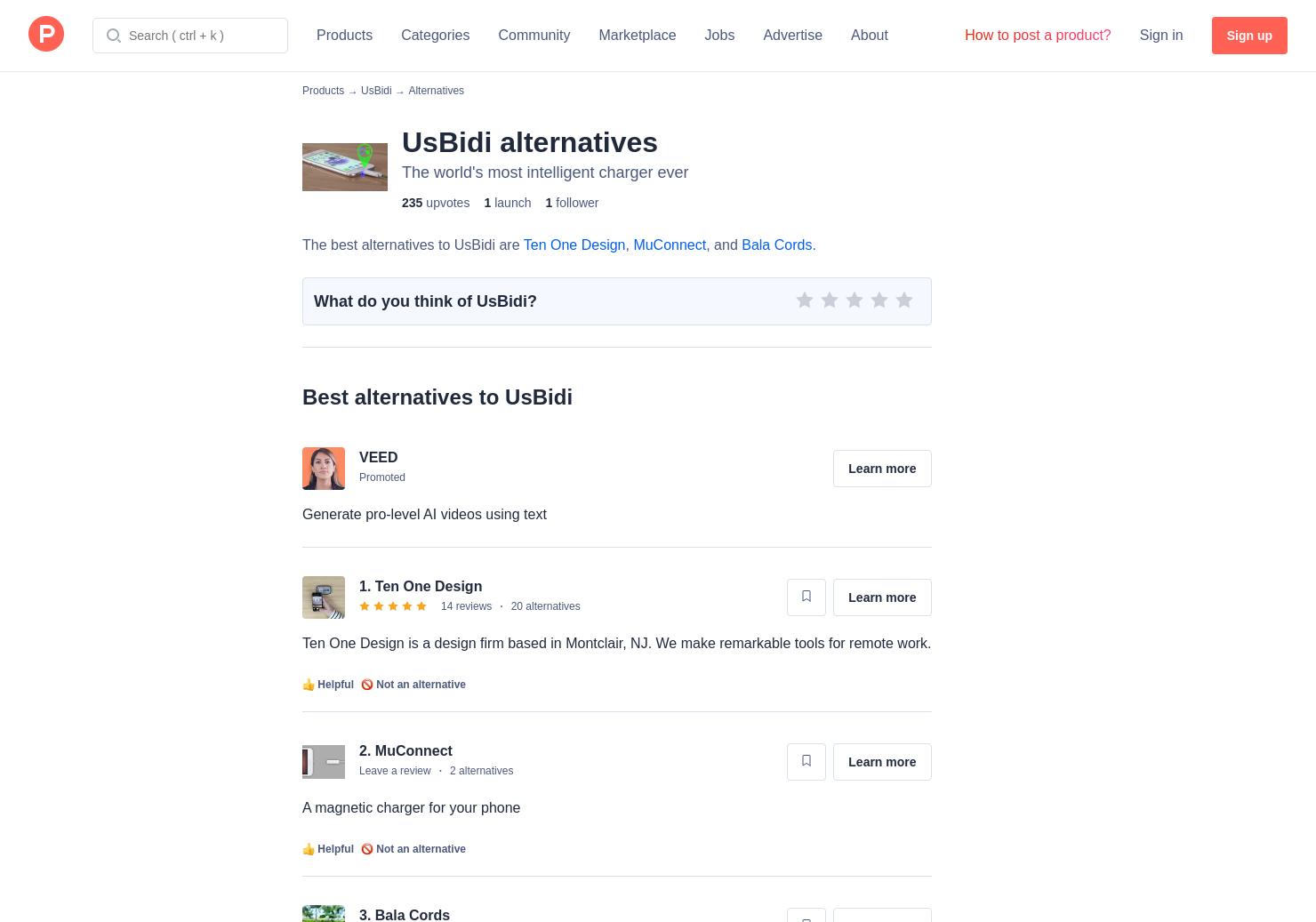 3 alternatives to usbidi product hunt