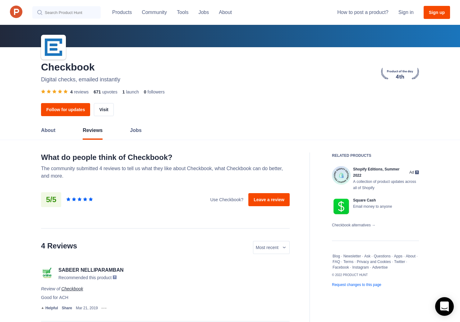 3 checkbook reviews pros cons and rating product hunt