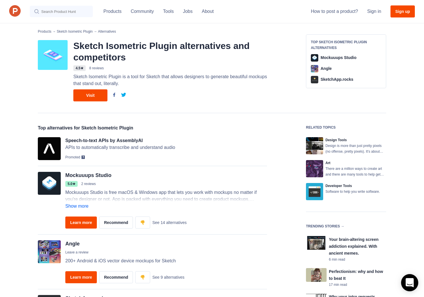 14 Alternatives to Sketch Isometric Plugin | Product Hunt