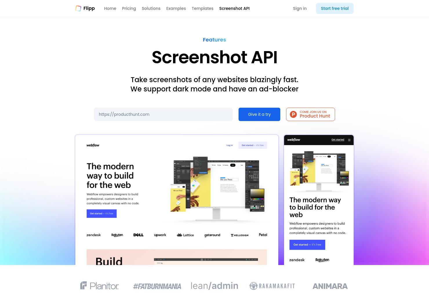 Screenshot API by Flipp
