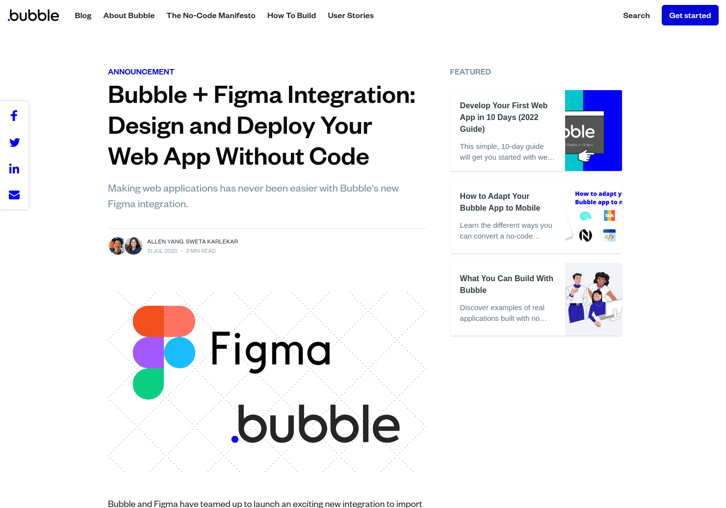 Bubble + Figma Integration